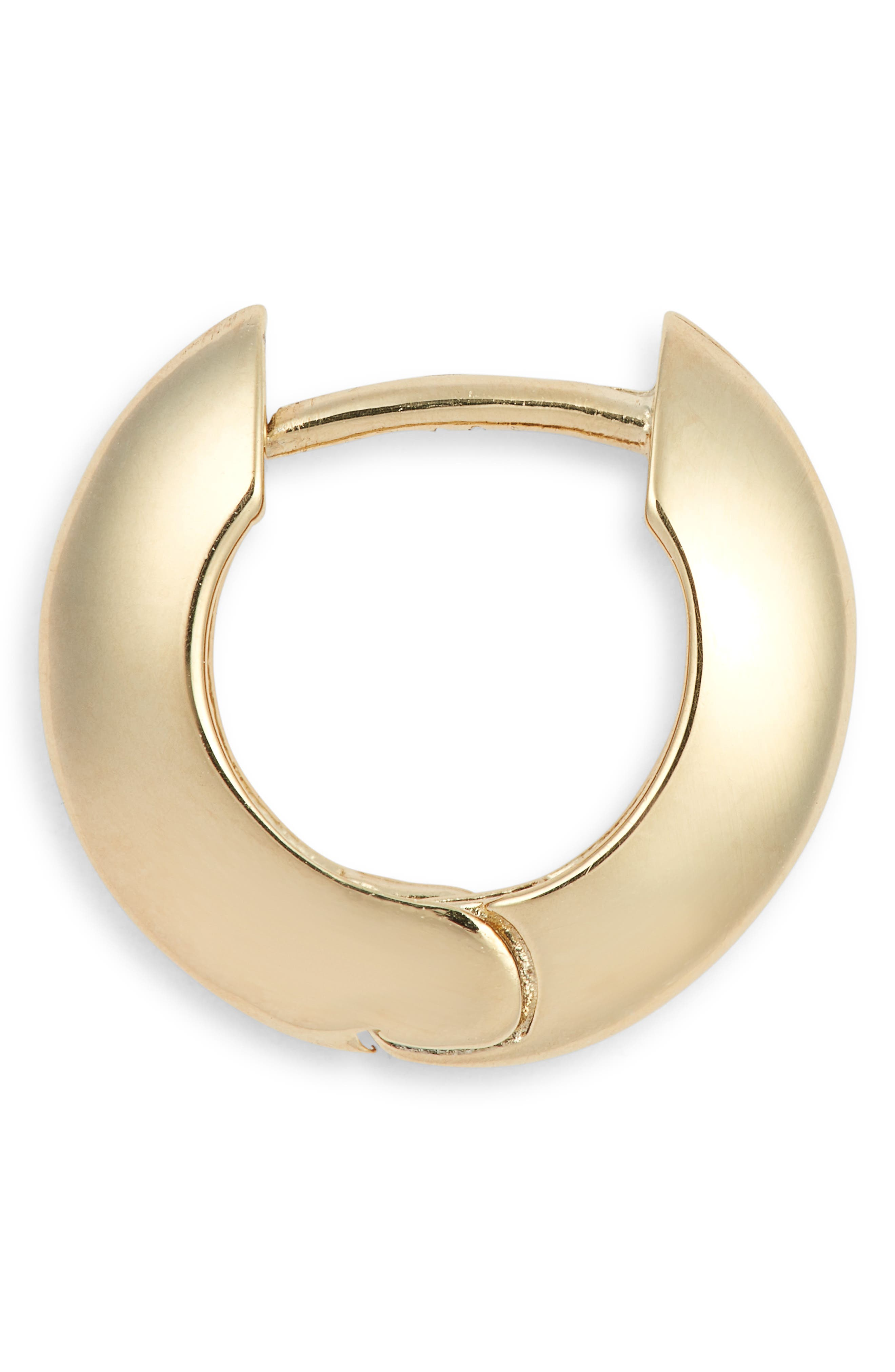 JENNIFER ZEUNER, Farrah Huggie Earrings, Alternate thumbnail 4, color, YELLOW VERMEIL