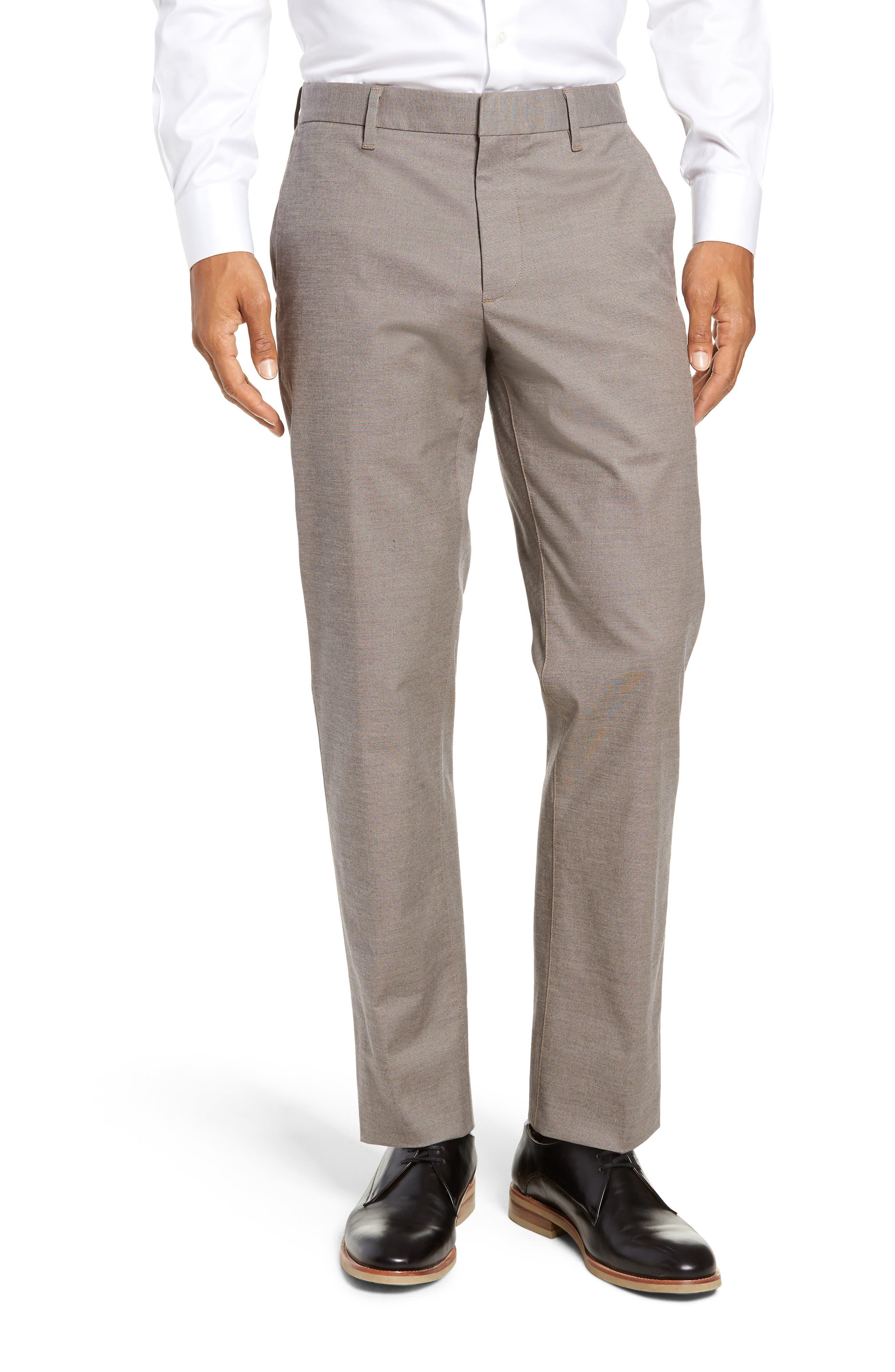 BONOBOS Weekday Warrior Slim Fit Stretch Dress Pants, Main, color, LIGHT KHAKI YARN DYE