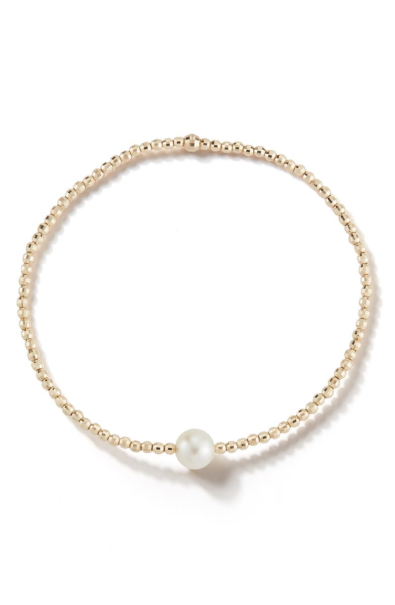 Mizuki Accessories SEA OF BEAUTY WHITE AKOYA SINGLE PEARL BRACELET
