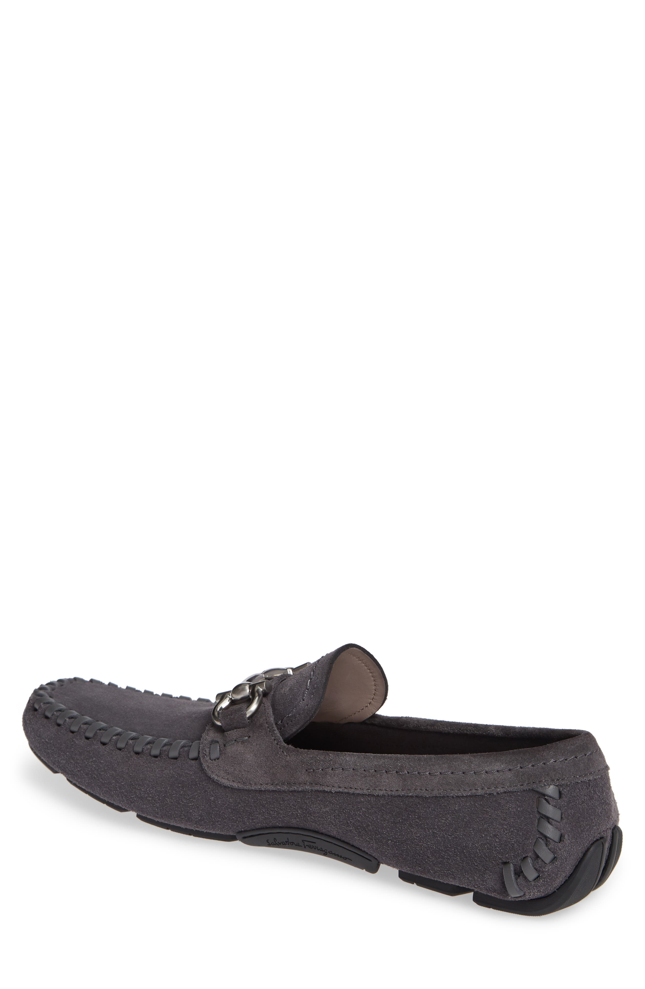 SALVATORE FERRAGAMO, Parigi Bit Driving Moccasin, Alternate thumbnail 2, color, ASFALTO NERO