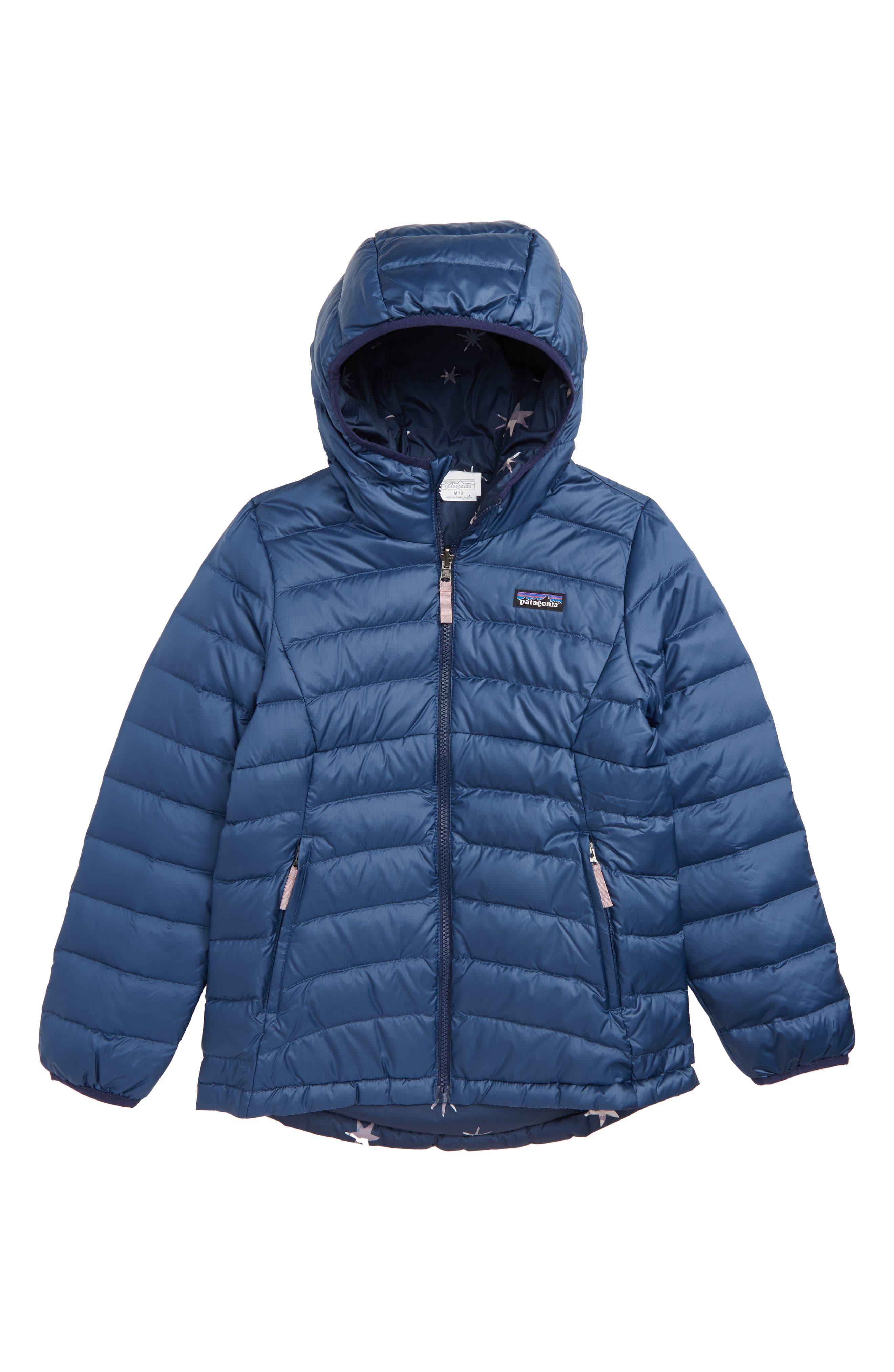 PATAGONIA Reversible Down Sweater Hoodie, Main, color, 400