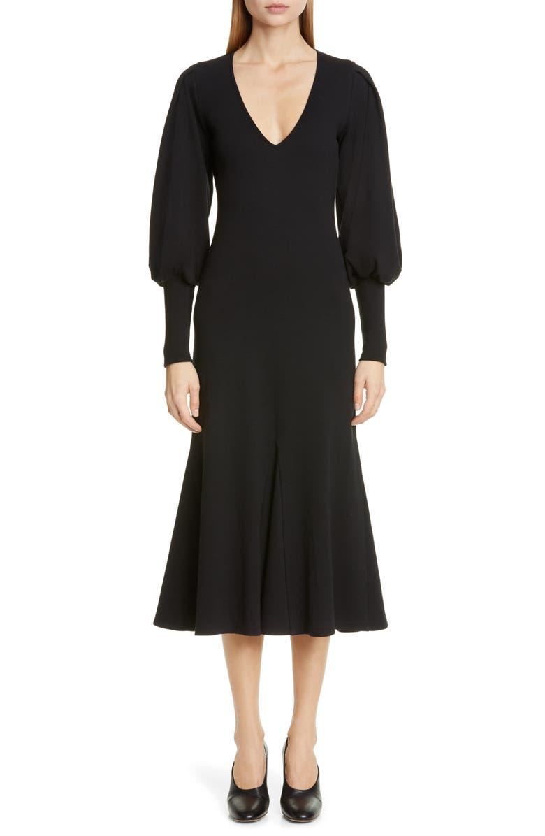 Beaufille Dresses FLORA LONG SLEEVE MIDI DRESS