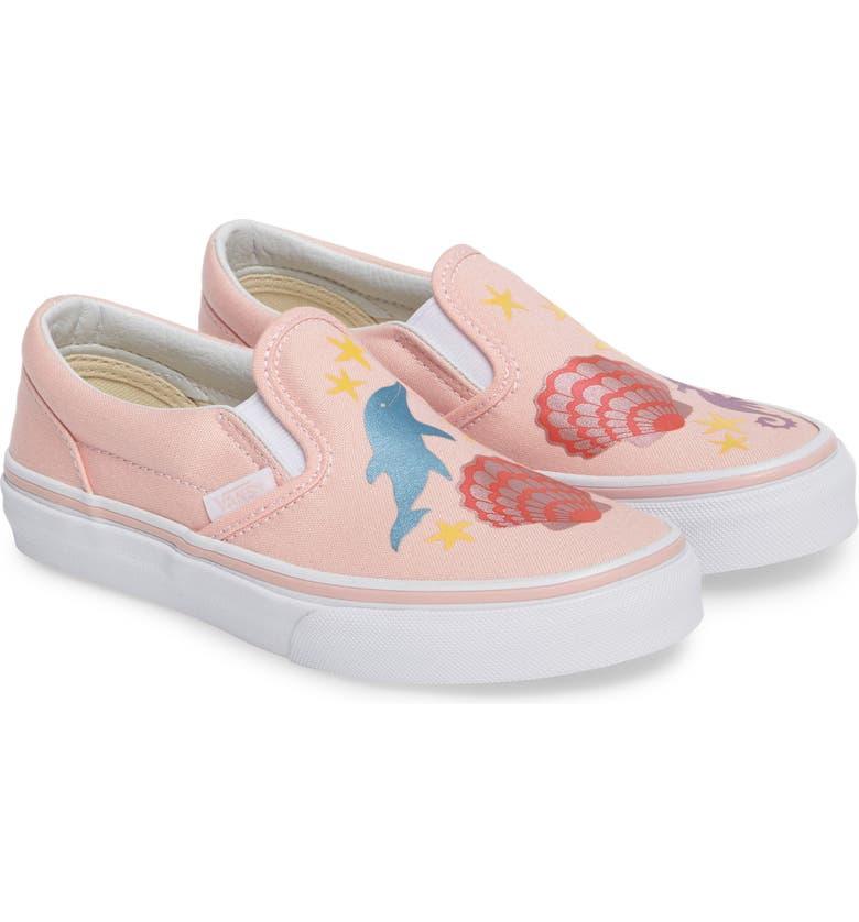 ad6cb0c2a9db1f Vans Classic Mermaid Slip-On Sneaker (Baby
