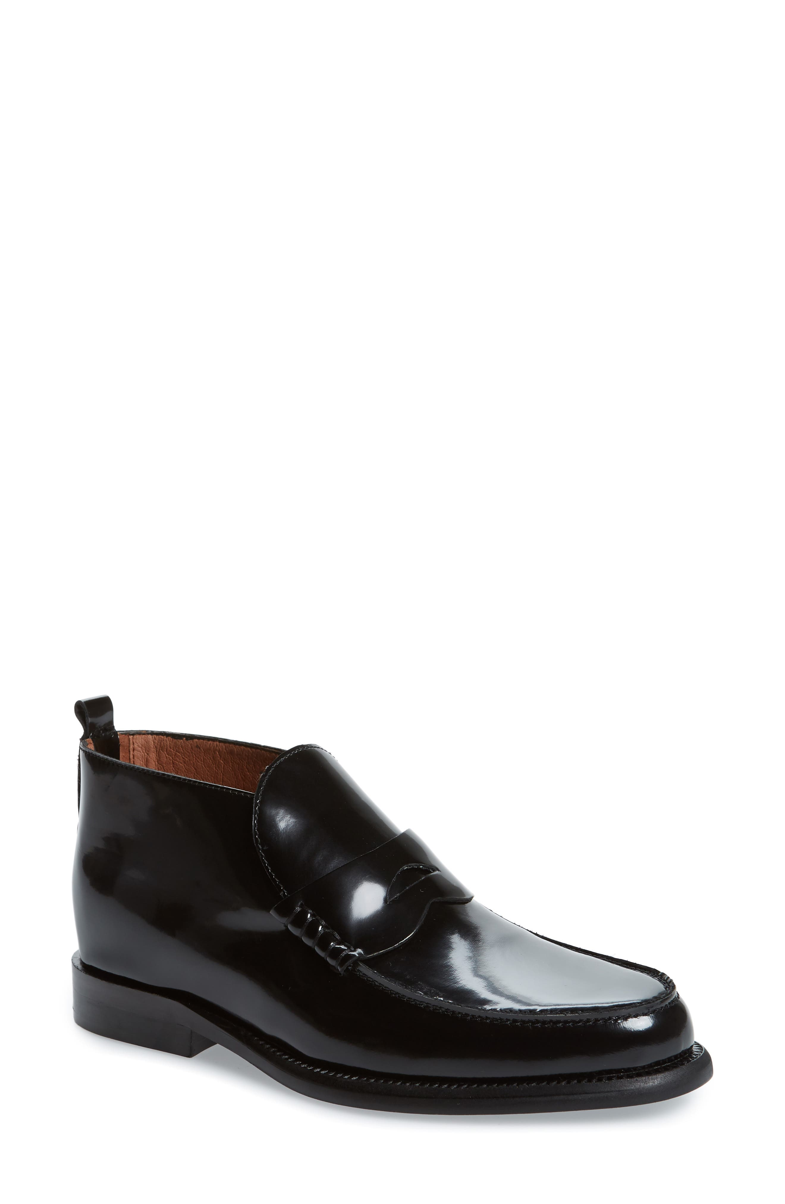 JEFFREY CAMPBELL, Marquis Loafer, Main thumbnail 1, color, BLACK LEATHER