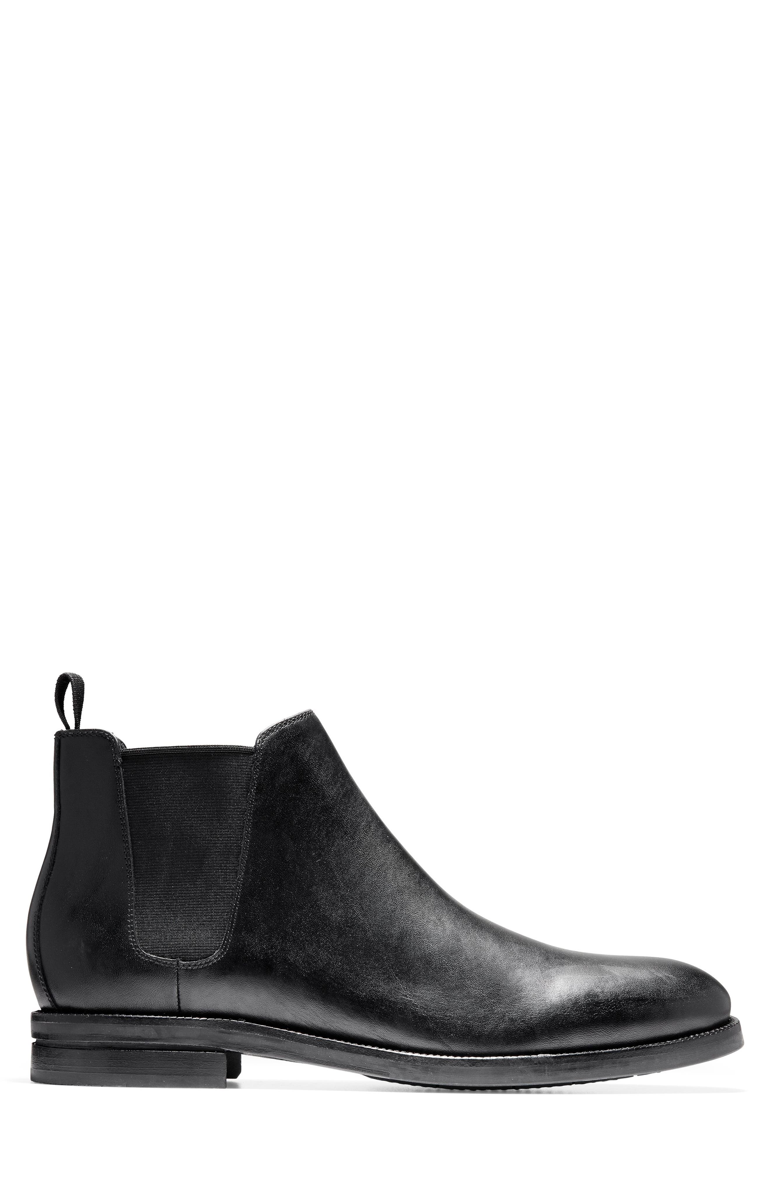 COLE HAAN, Wakefield Grand Chelsea Boot, Alternate thumbnail 2, color, BLACK LEATHER