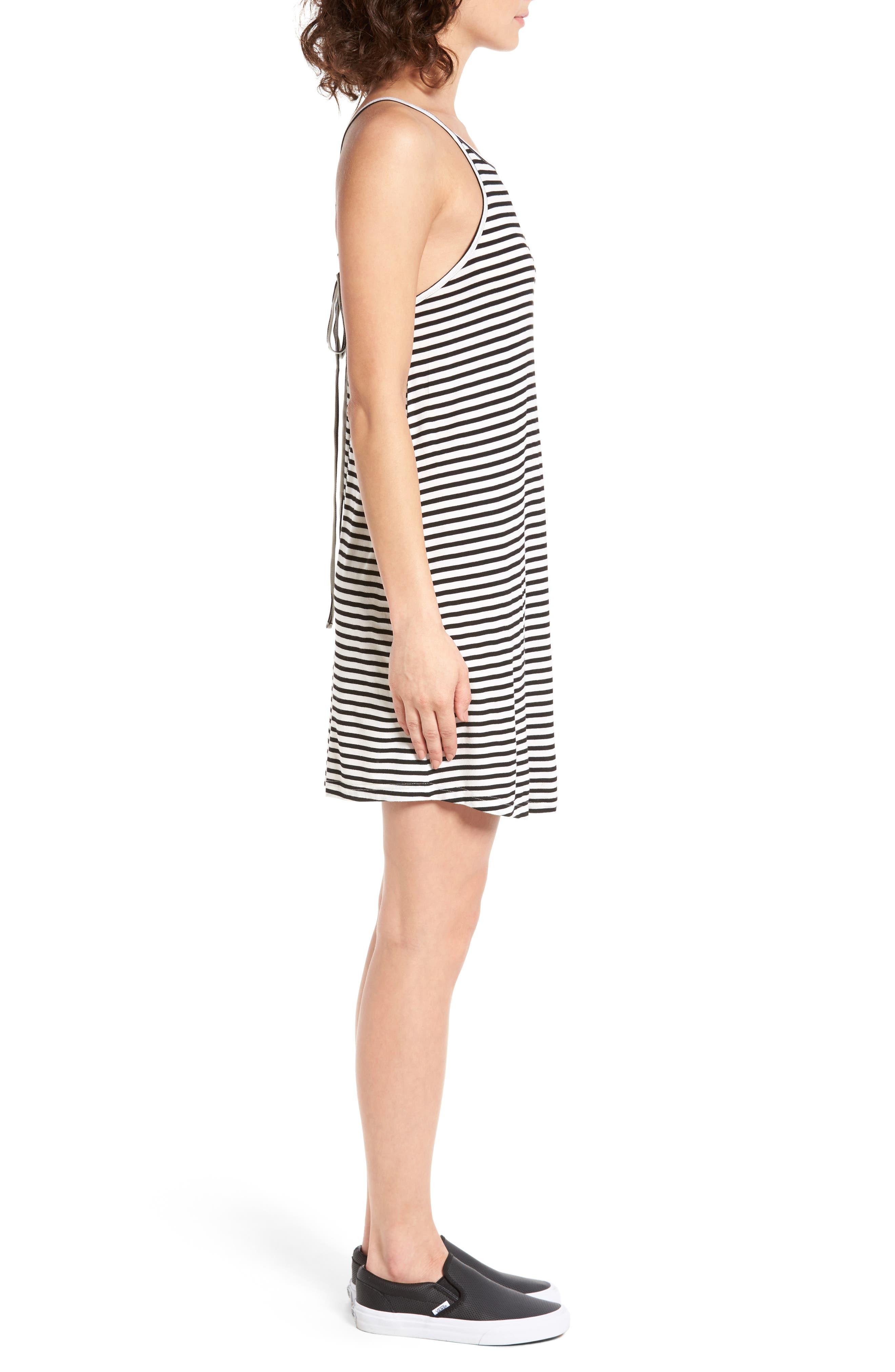 ROXY, I Did Didn't Stripe Dress, Alternate thumbnail 3, color, 101