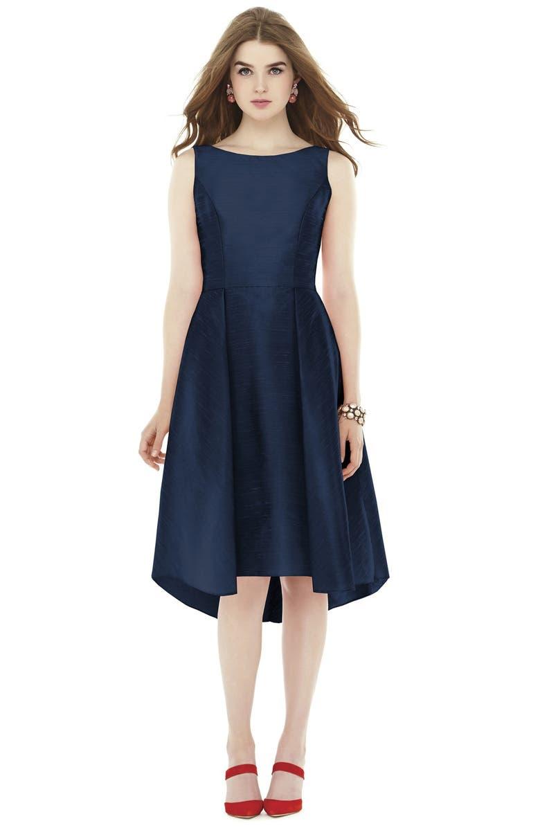 e5c774aa4e3 Alfred Sung Bow Back Dupioni Fit   Flare Midi Dress