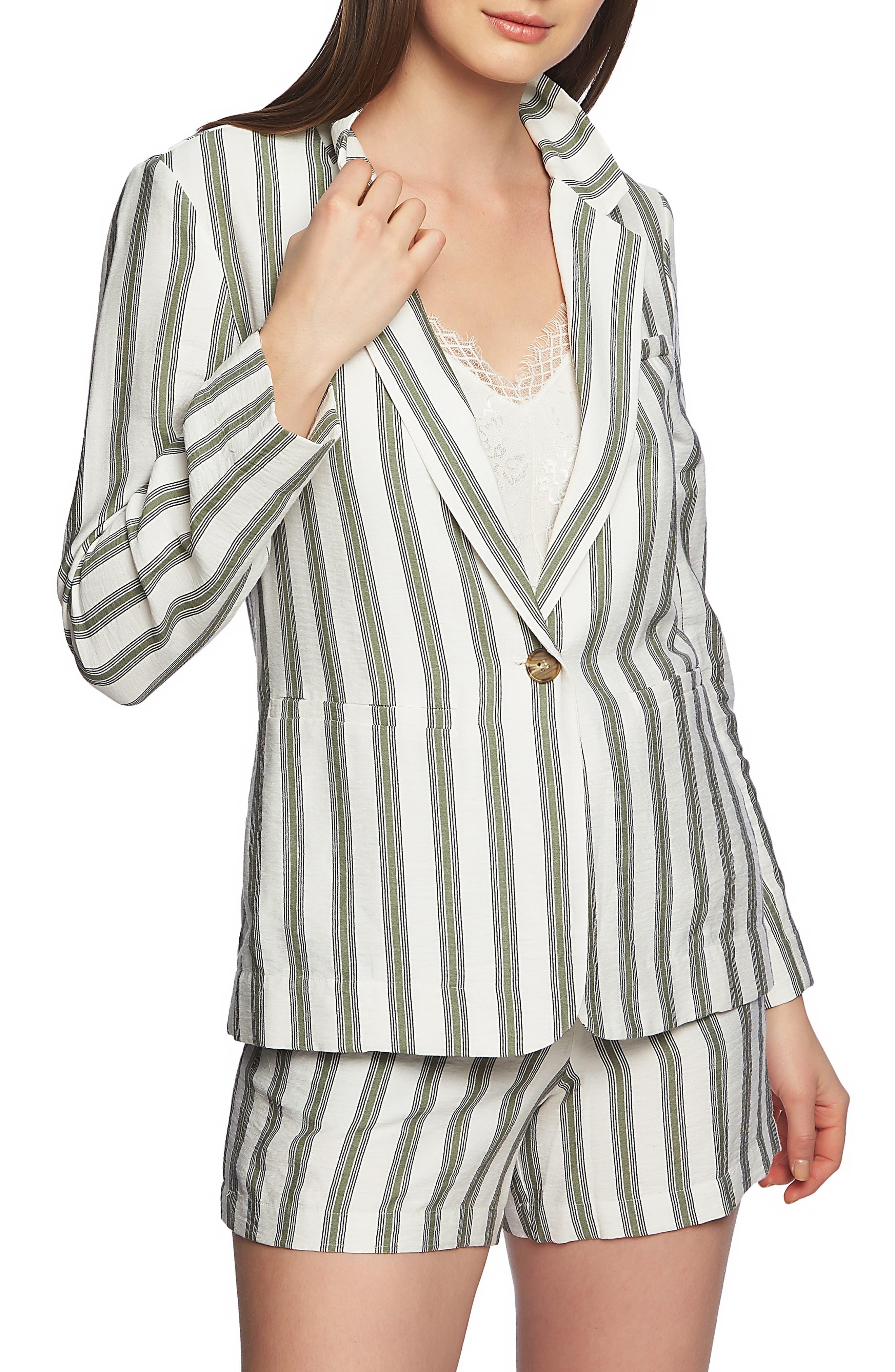 1.STATE Regancy Stripe Blazer, Main, color, SAGE VINE