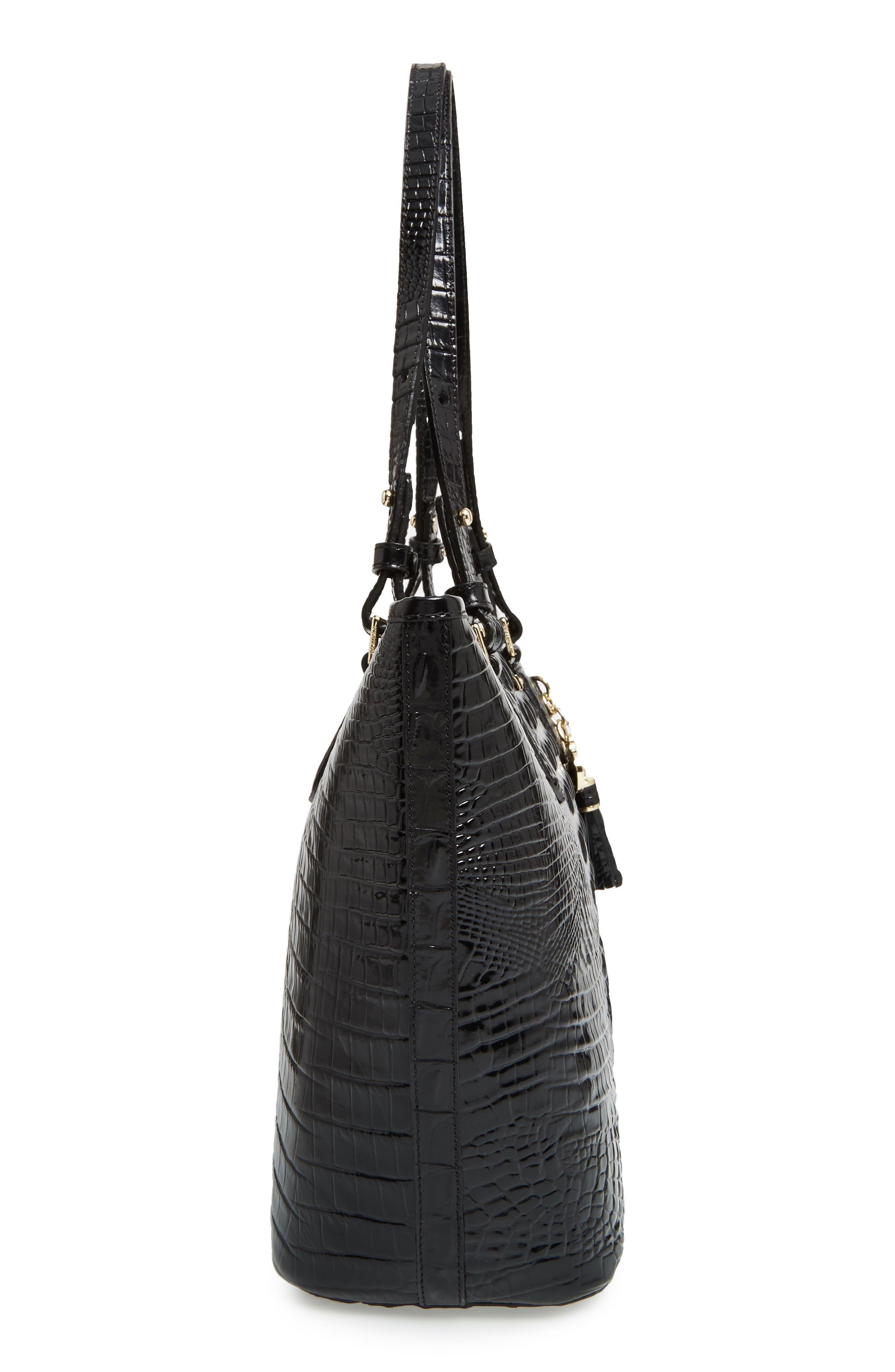 BRAHMIN, 'Medium Asher' Leather Tote, Alternate thumbnail 6, color, BLACK