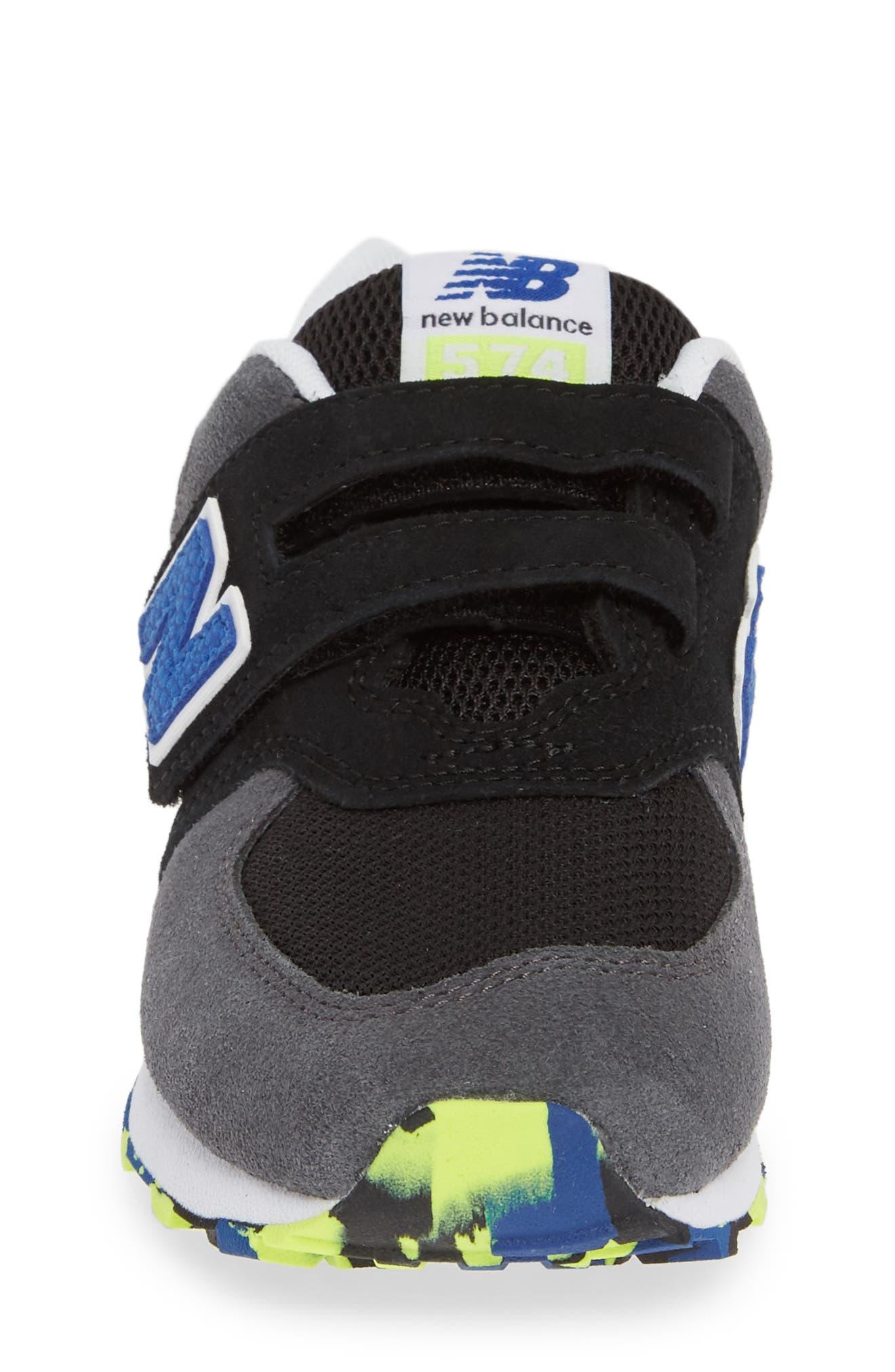 NEW BALANCE, 574 Sneaker, Alternate thumbnail 4, color, BLACK/ BLACK