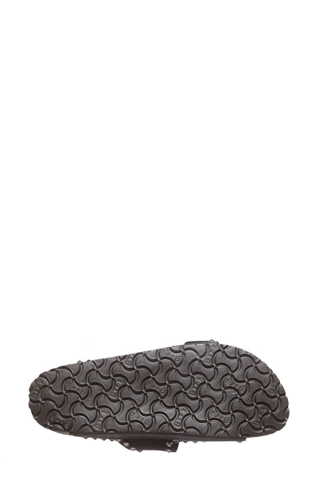 BIRKENSTOCK, 'Arizona' Studded Leather Sandal, Alternate thumbnail 2, color, 001