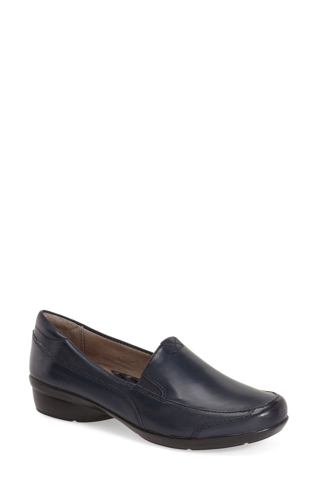 NATURALIZER, 'Channing' Loafer, Main thumbnail 1, color, NAVY