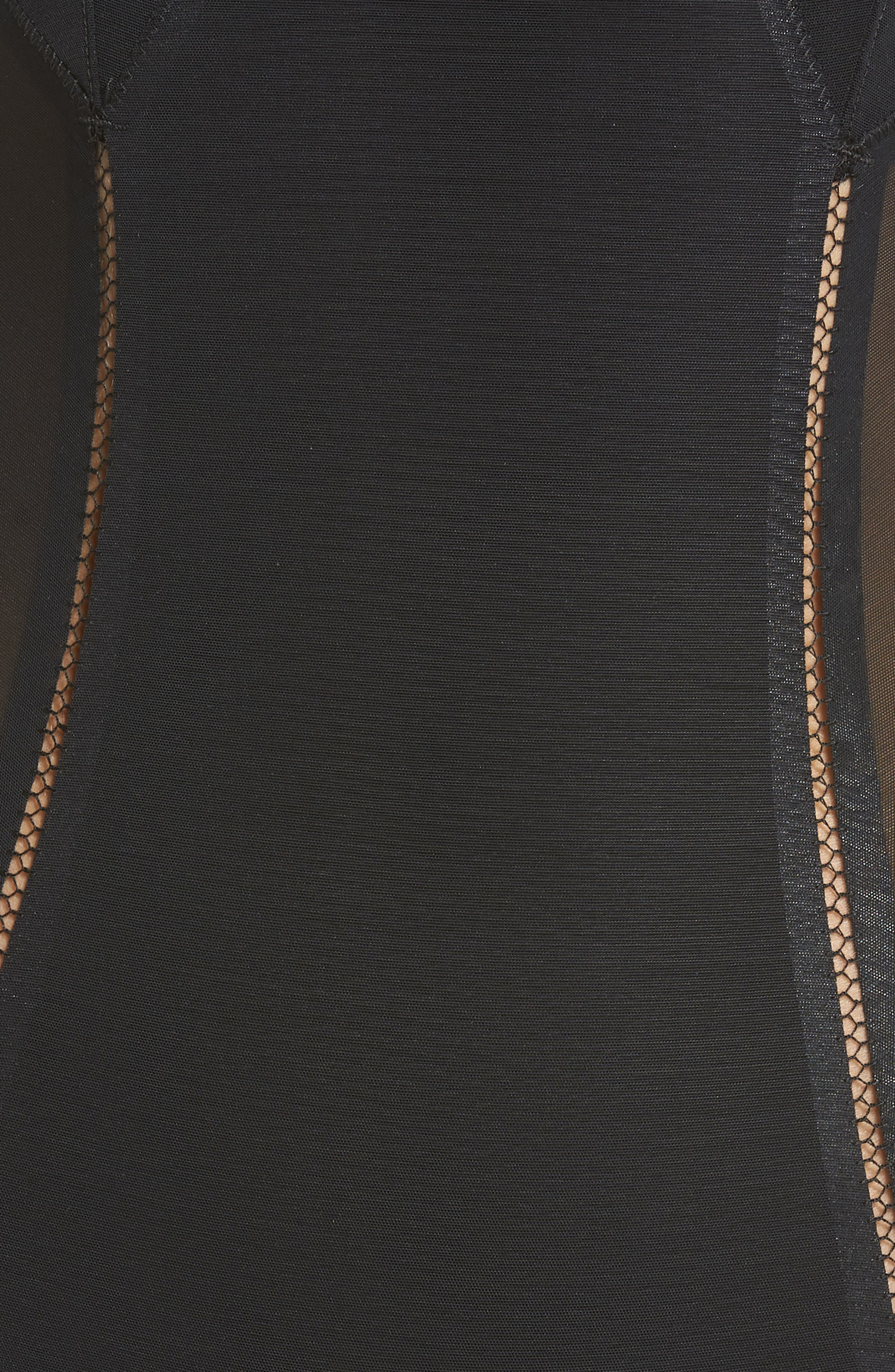 SPANX<SUP>®</SUP>, Haute Contour Thong Bodysuit, Alternate thumbnail 5, color, VERY BLACK