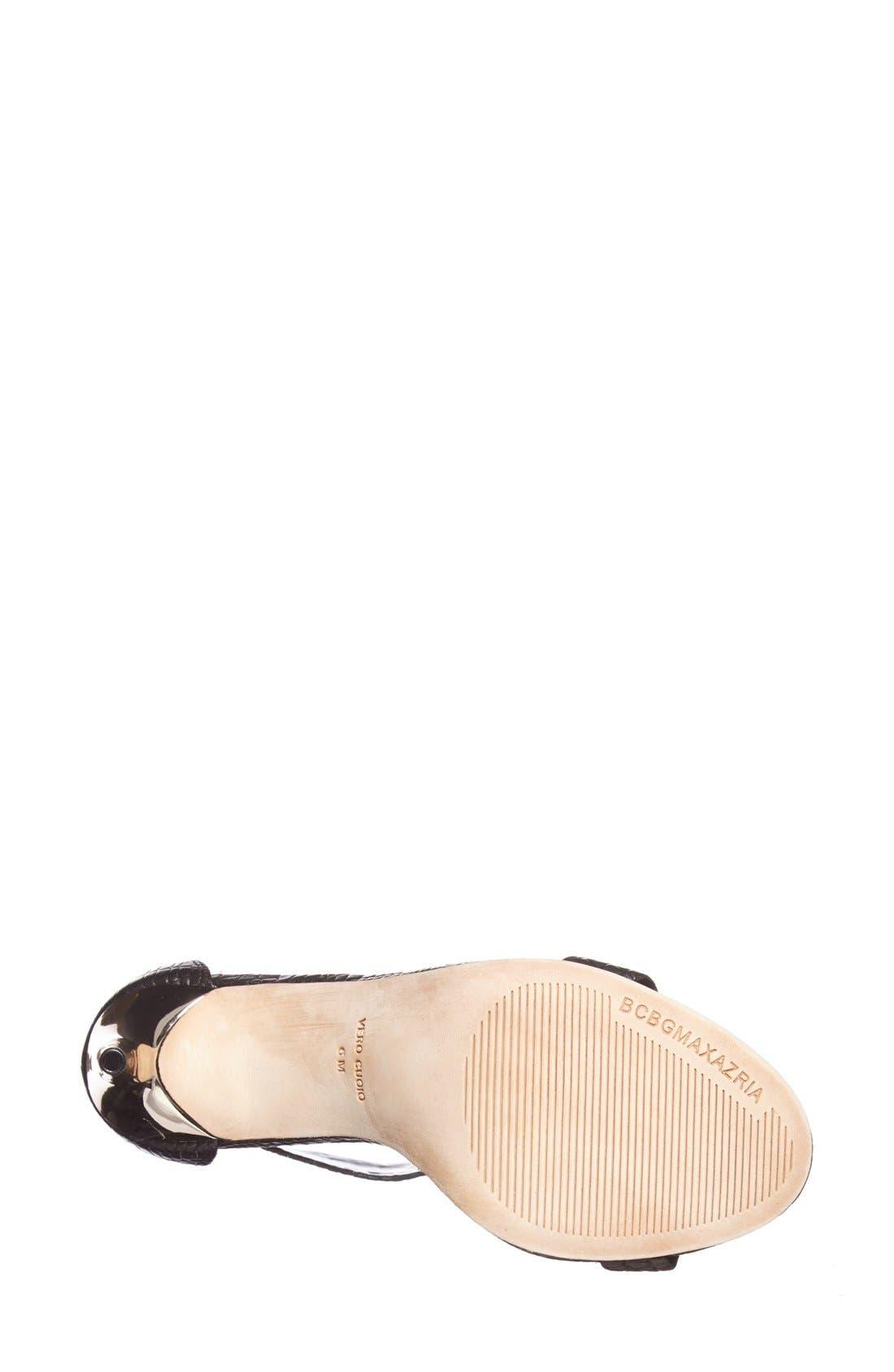 BCBGMAXAZRIA, 'Polaris' Sandal, Alternate thumbnail 6, color, 001