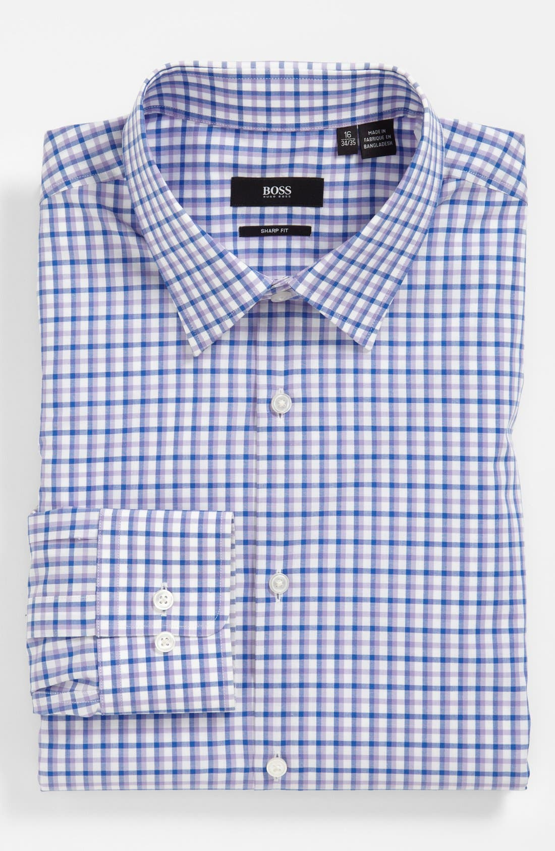 BOSS HUGO BOSS 'Marlow' Sharp Fit Dress Shirt, Main, color, 530