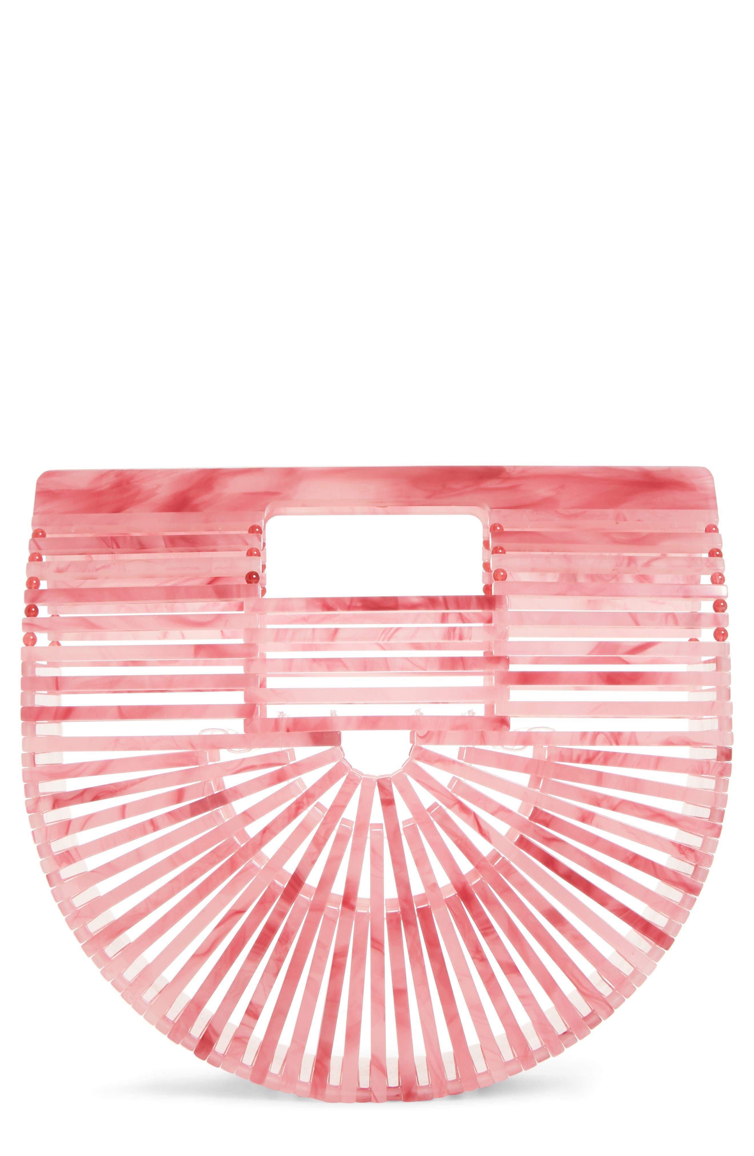CULT GAIA Mini Ark Handbag, Main, color, CHQ CHERRY QUARTZ