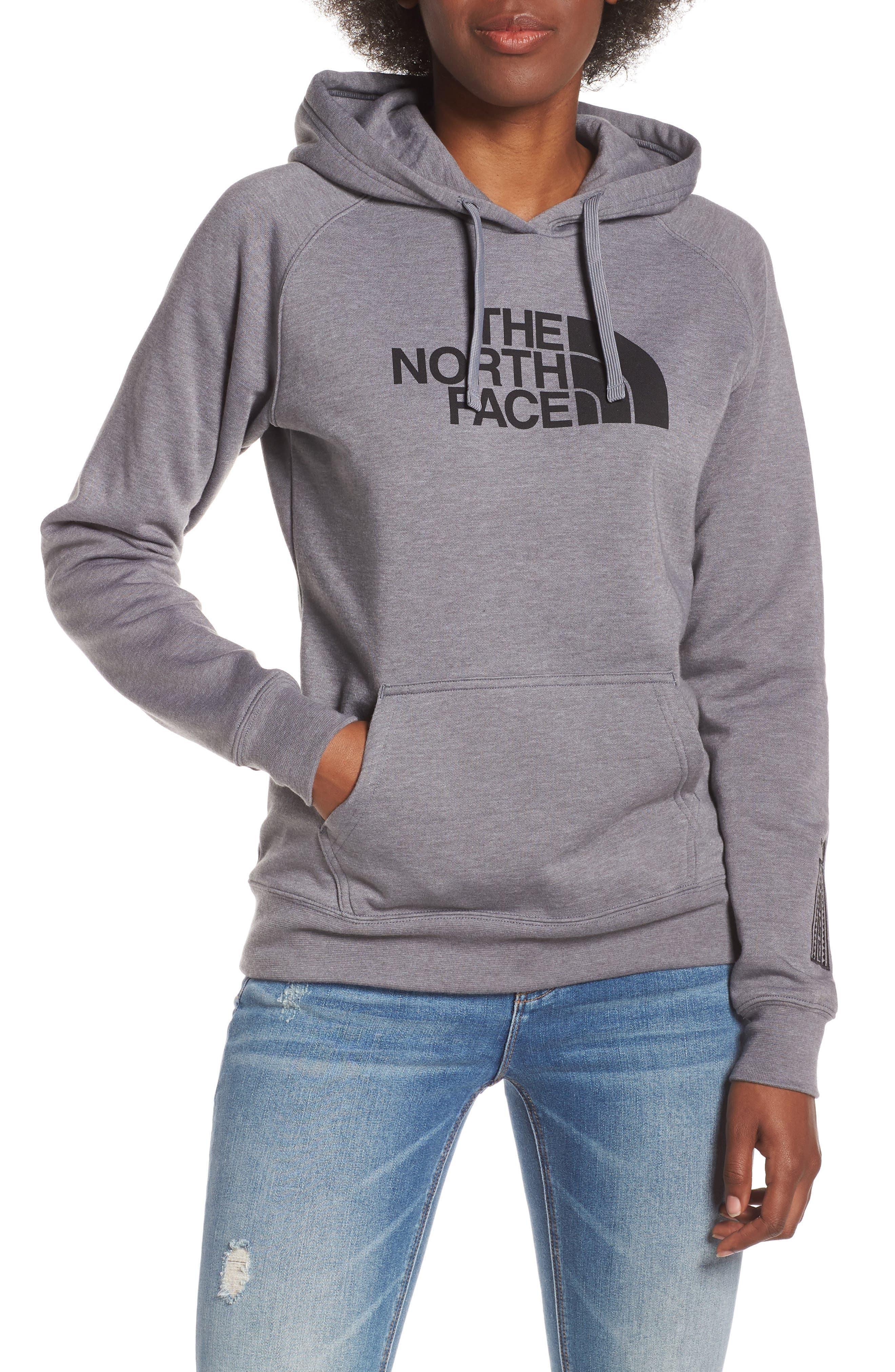 THE NORTH FACE, Half Dome Pullover, Main thumbnail 1, color, TNF GREY HEATHER/ TNF BLACK