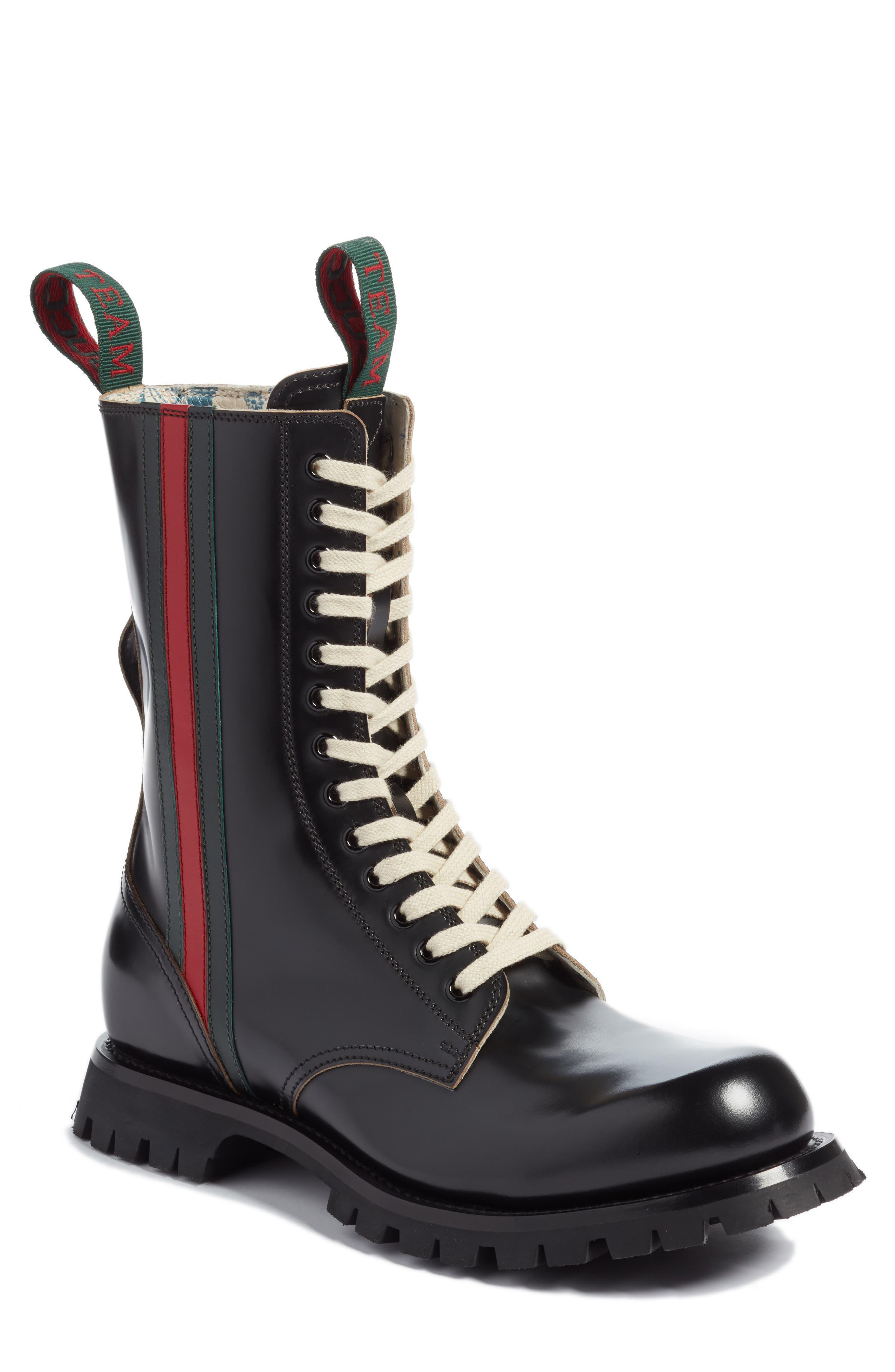 Gucci Arley Tall Web Boot, Black