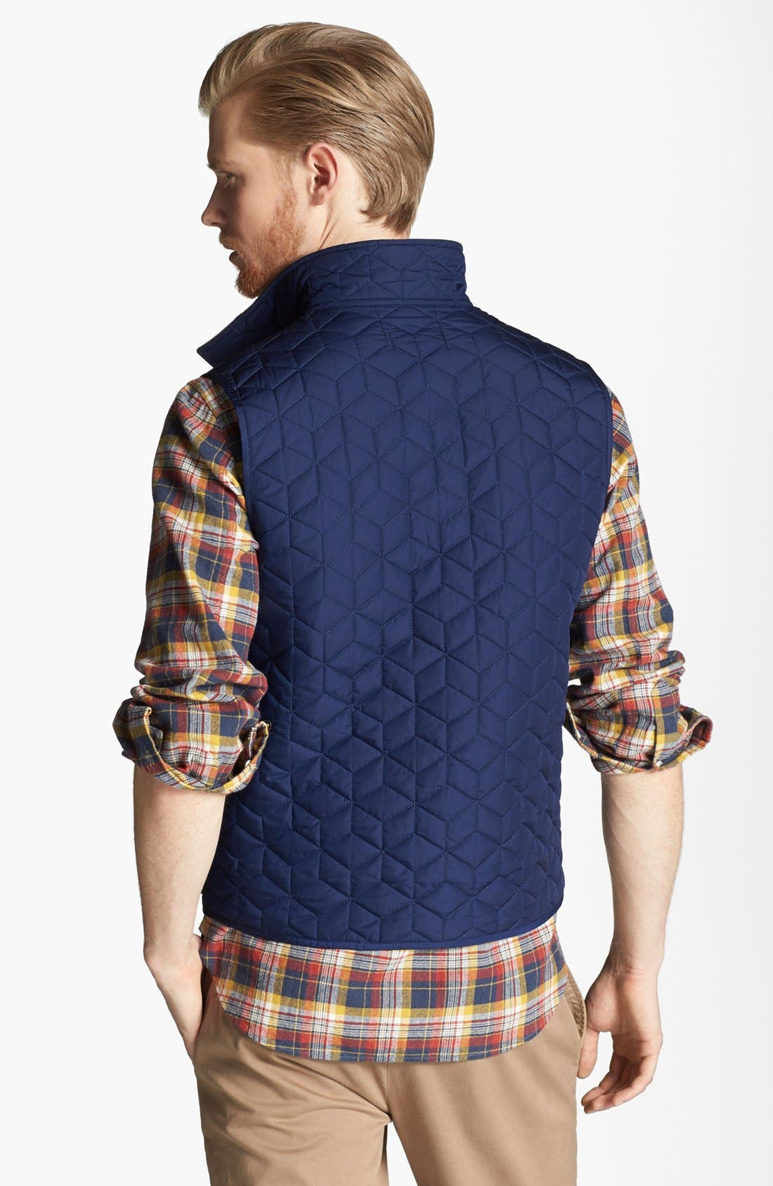 JACK SPADE, 'Herington' Quilted Vest, Alternate thumbnail 2, color, 400