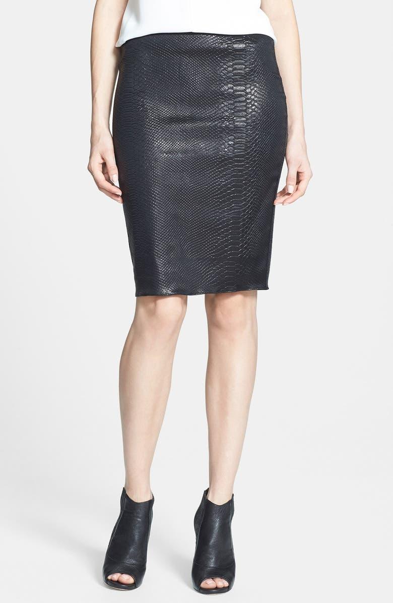 6fa3feb705 BAILEY 44 'Satellite' Faux Snake Skin Pencil Skirt, Main, color, ...