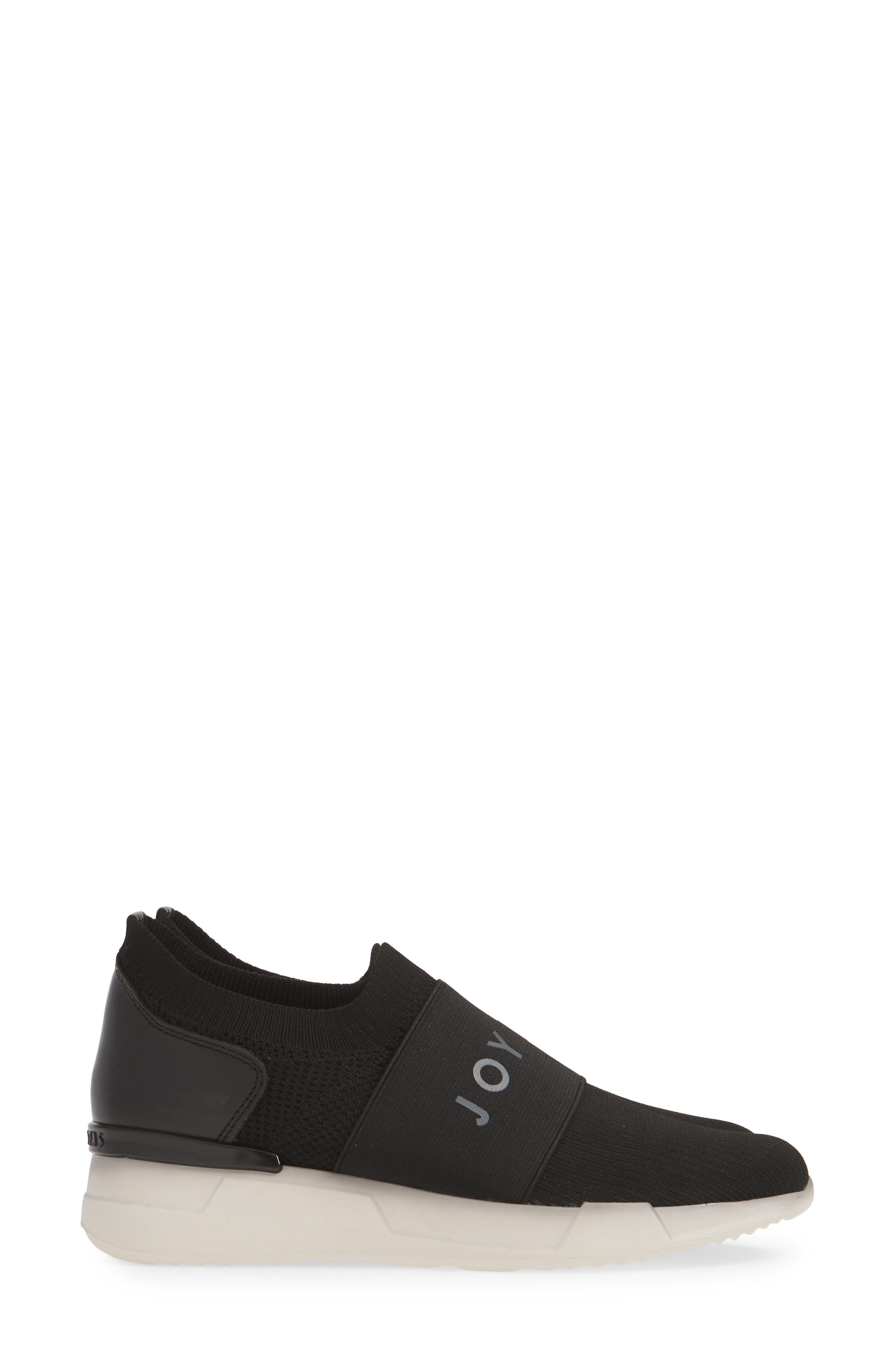 HISPANITAS, Spence Joy Is Choice Sock-Knit Sneaker, Alternate thumbnail 4, color, BLACK/ WHITE FABRIC