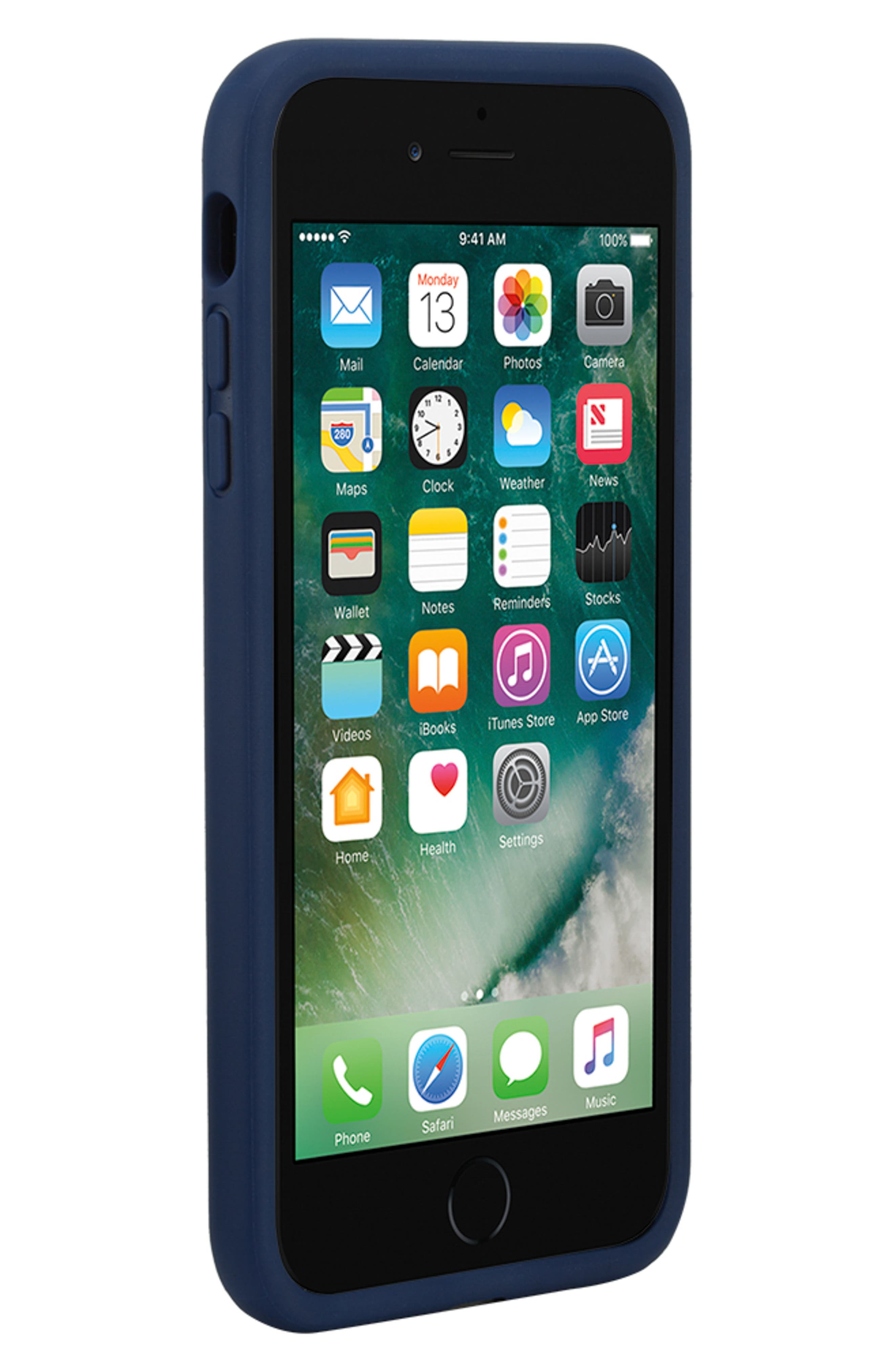 INCASE DESIGNS, Pop Tint iPhone 7/8 Plus Case, Alternate thumbnail 4, color, NAVY