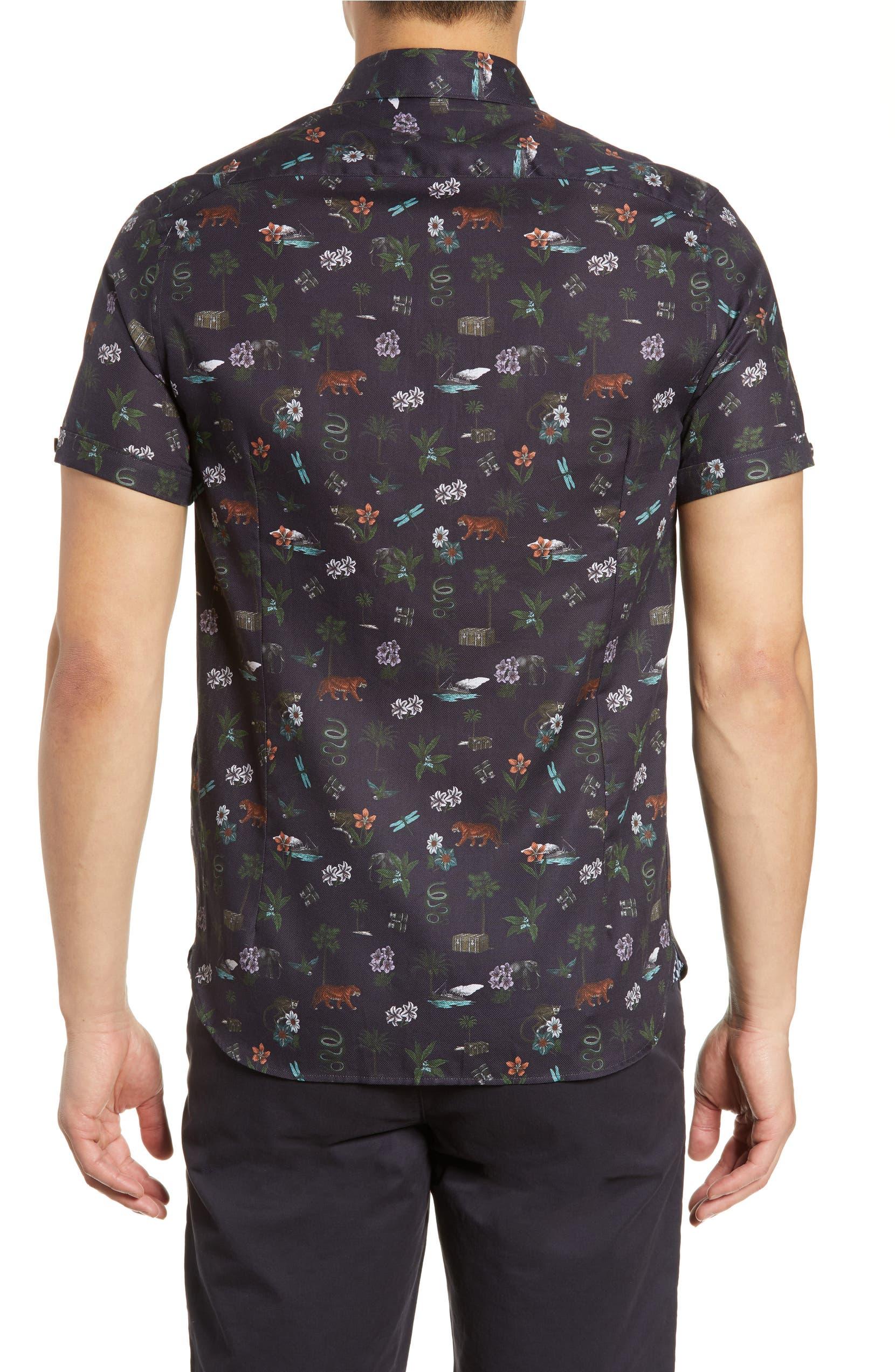 c9e8cf766153 Ted Baker London Dolfin Slim Fit Print Shirt