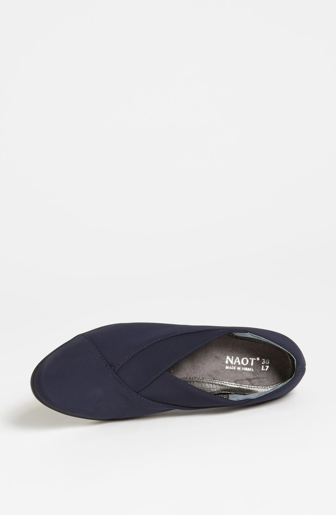 NAOT, 'Lucente' Pump, Alternate thumbnail 3, color, NAVY STRETCH