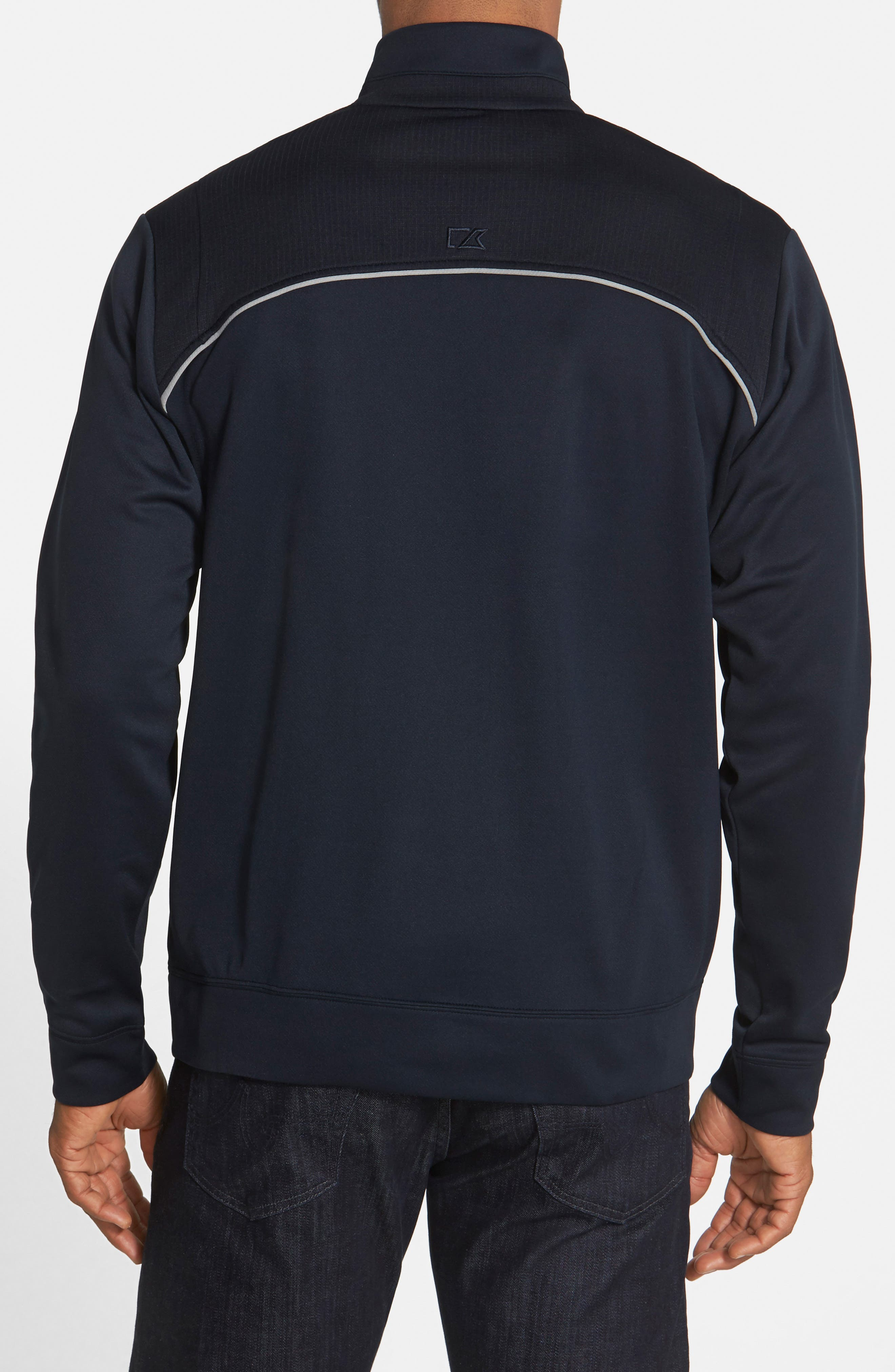 CUTTER & BUCK, Ridge WeatherTec Wind & Water Resistant Pullover, Alternate thumbnail 5, color, NAVY BLUE
