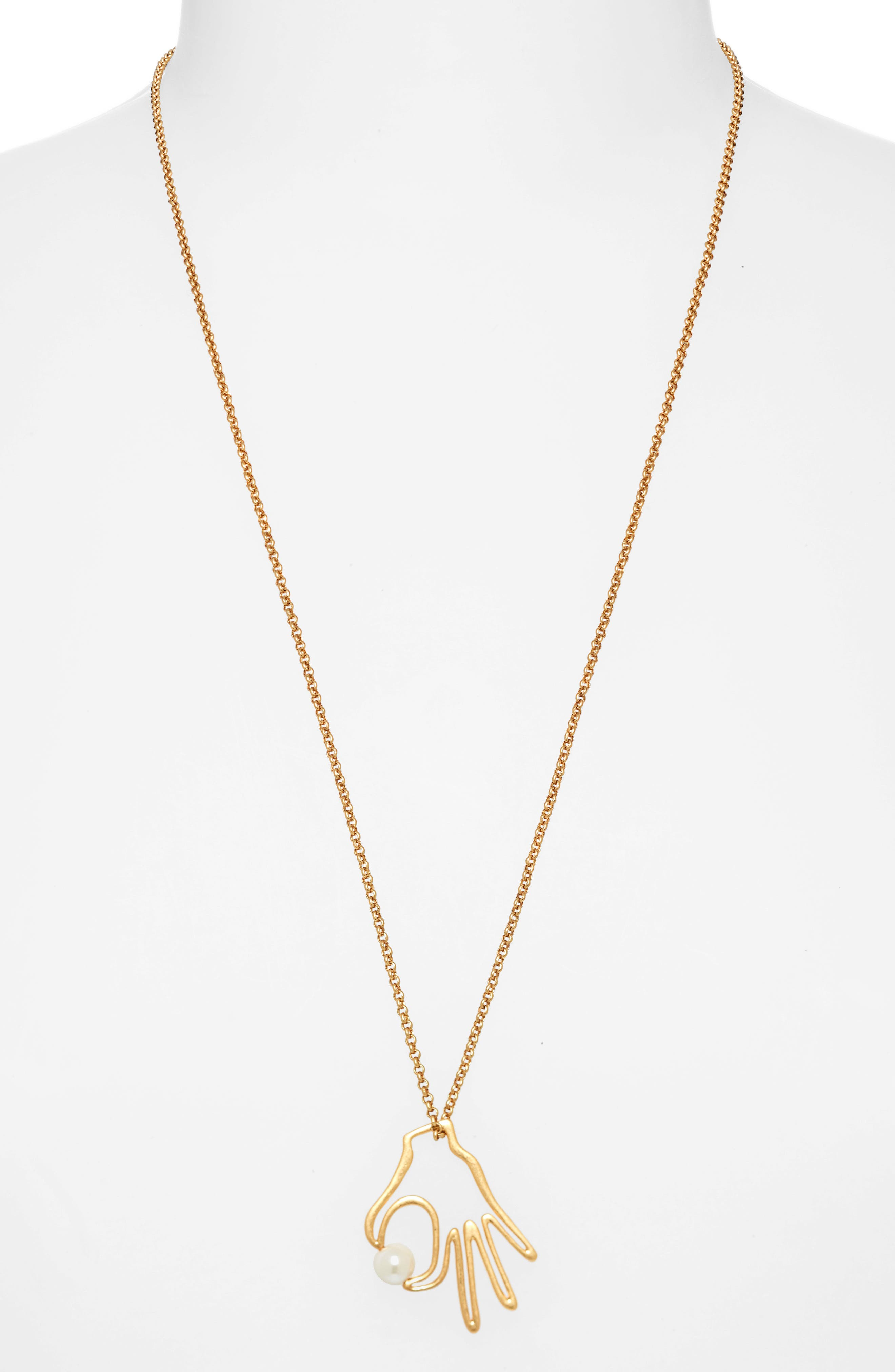 MADEWELL, Hand Jive Pendant Necklace, Alternate thumbnail 2, color, 710