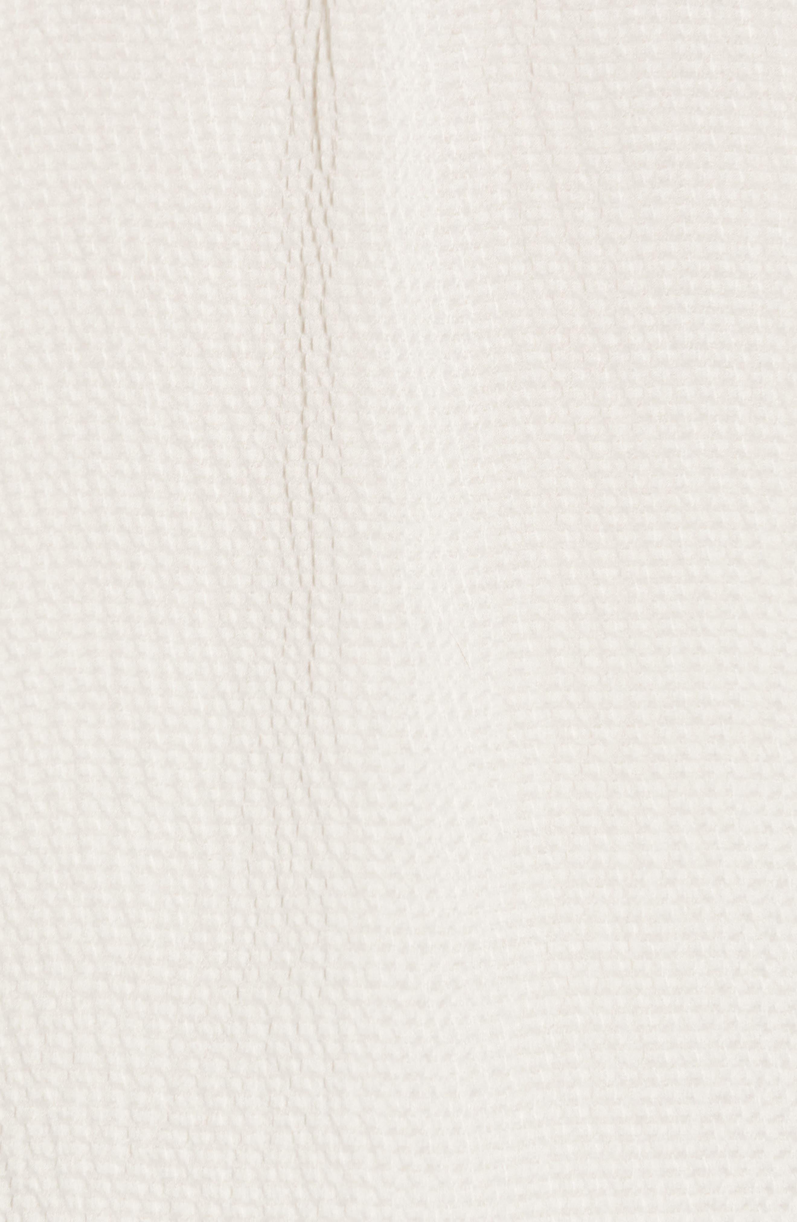 REBECCA TAYLOR, Silk Ruffle Top, Alternate thumbnail 5, color, ANTIQUE CREAM