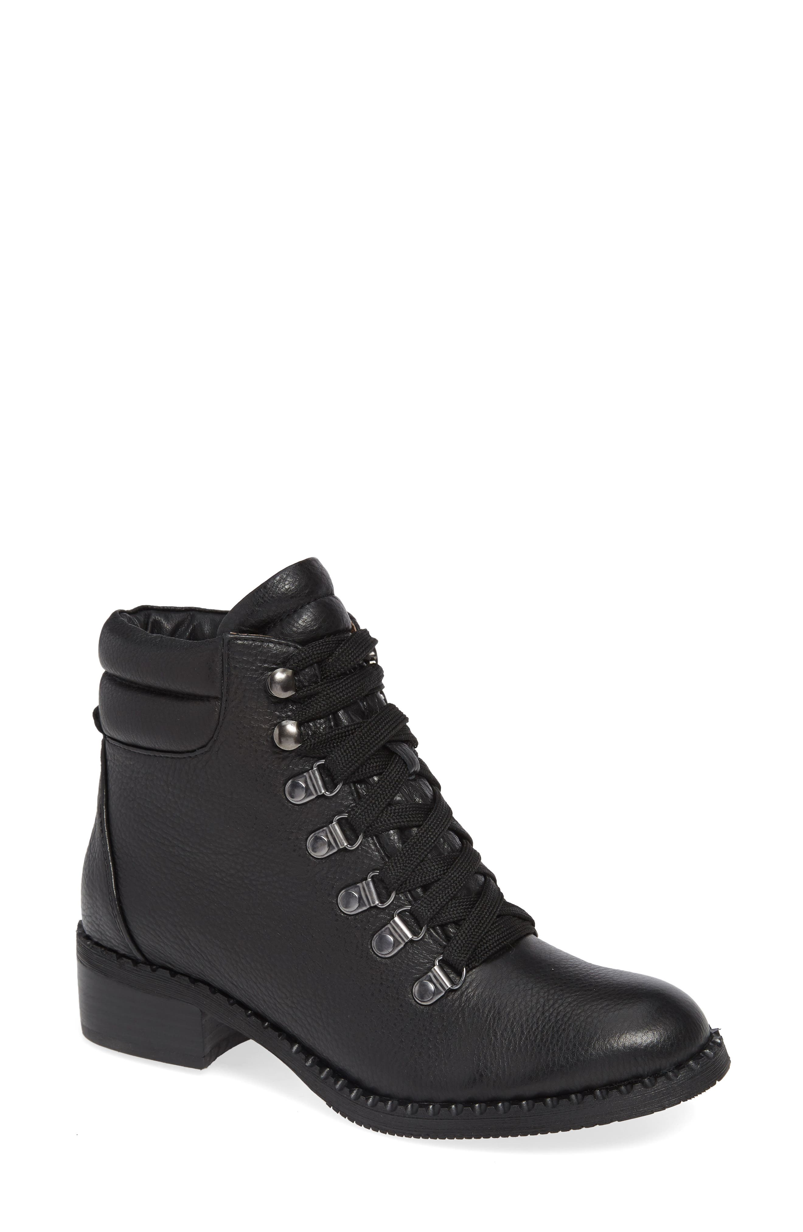 GENTLE SOULS BY KENNETH COLE, Brooklyn Combat Boot, Main thumbnail 1, color, BLACK LEATHER