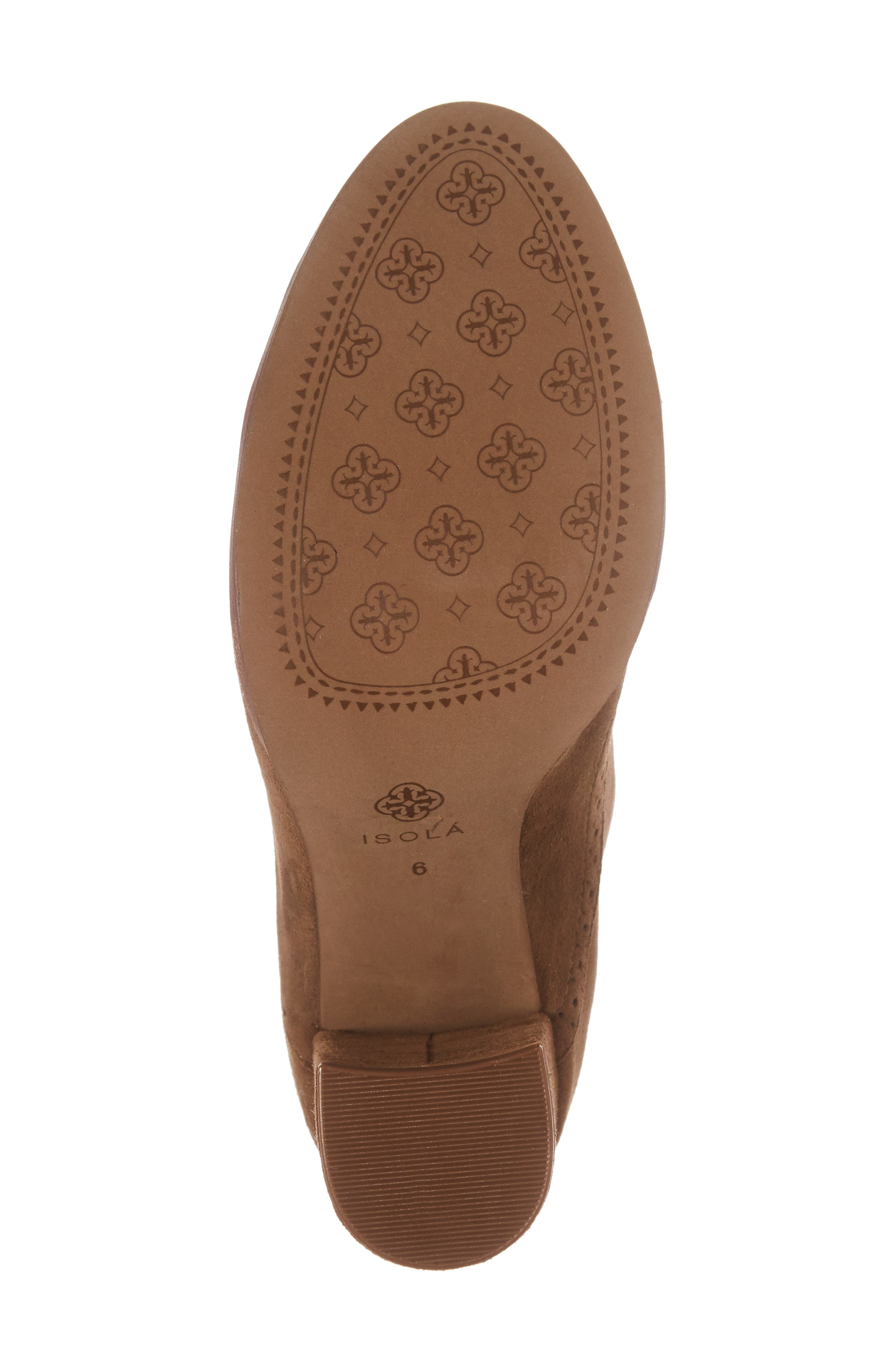 ISOLÁ, Holli Oxford Pump, Alternate thumbnail 6, color, LIGHT BROWN SUEDE