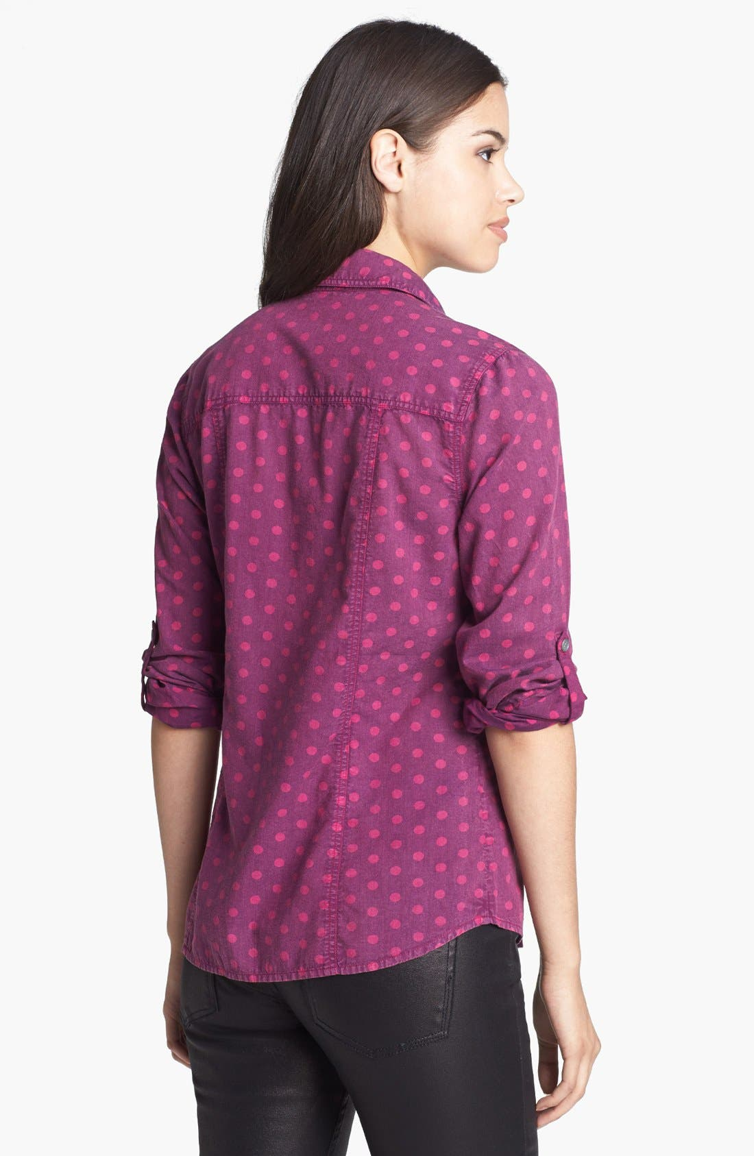 KUT FROM THE KLOTH, 'Jules' Dot Chambray Shirt, Alternate thumbnail 2, color, 938