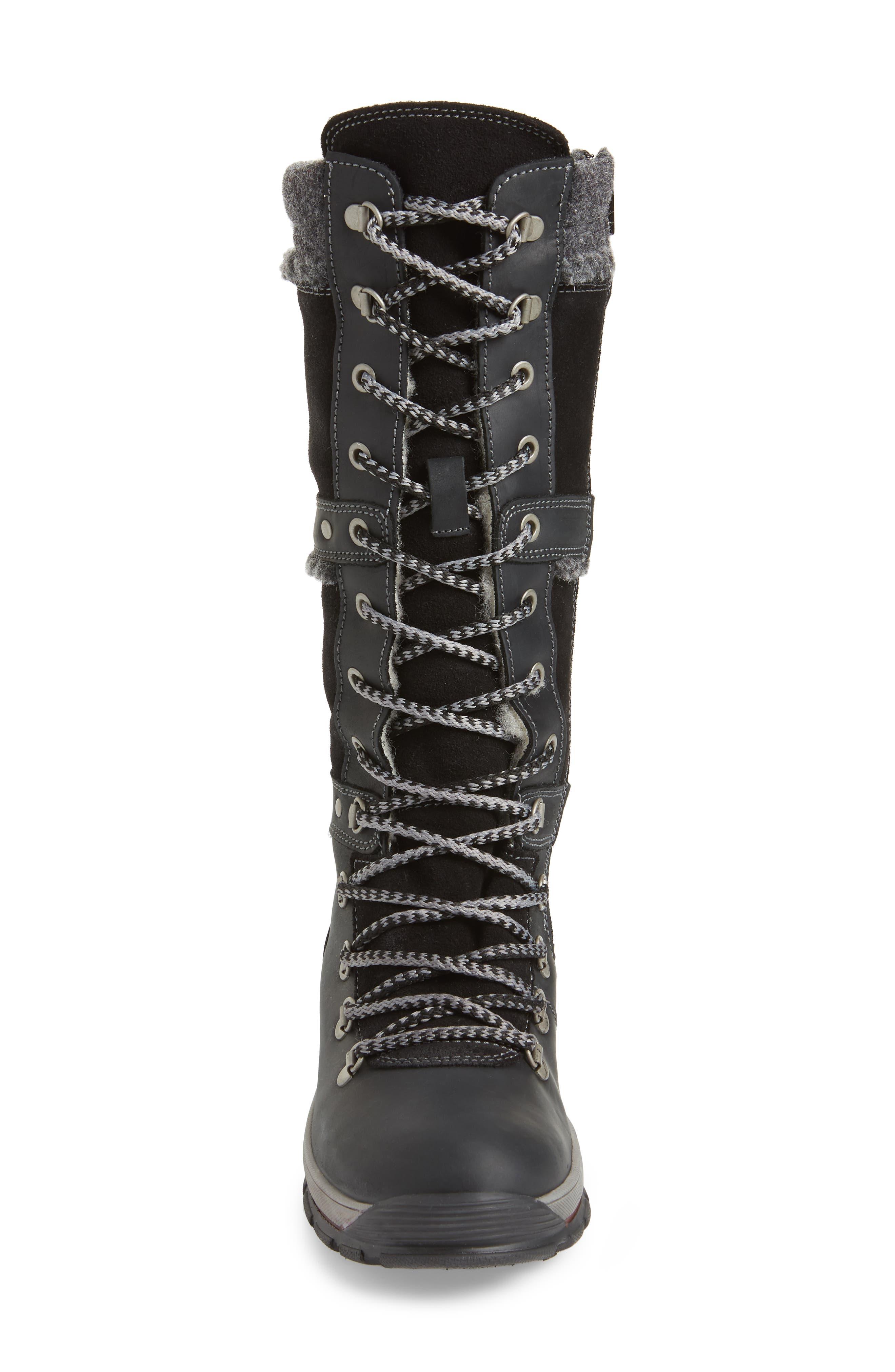 BOS. & CO., Gabriella Waterproof Boot, Alternate thumbnail 4, color, BLACK/ DARK GREY CROMAGNON