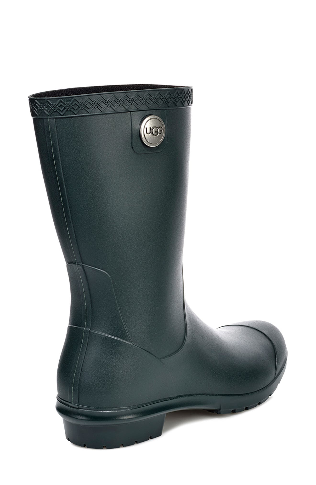 UGG<SUP>®</SUP>, Sienna Rain Boot, Alternate thumbnail 2, color, OLIVE RUBBER