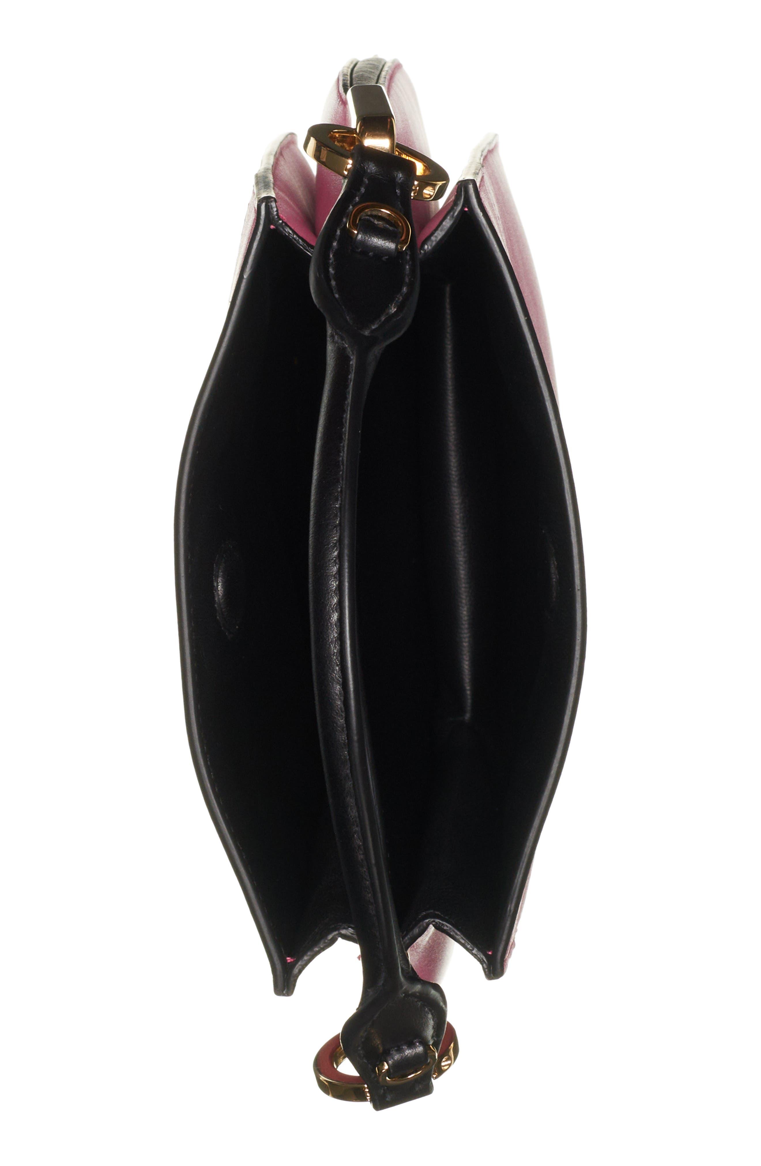 PRADA, Large Margit Shoulder Bag, Alternate thumbnail 3, color, BEGONIA/ NERO