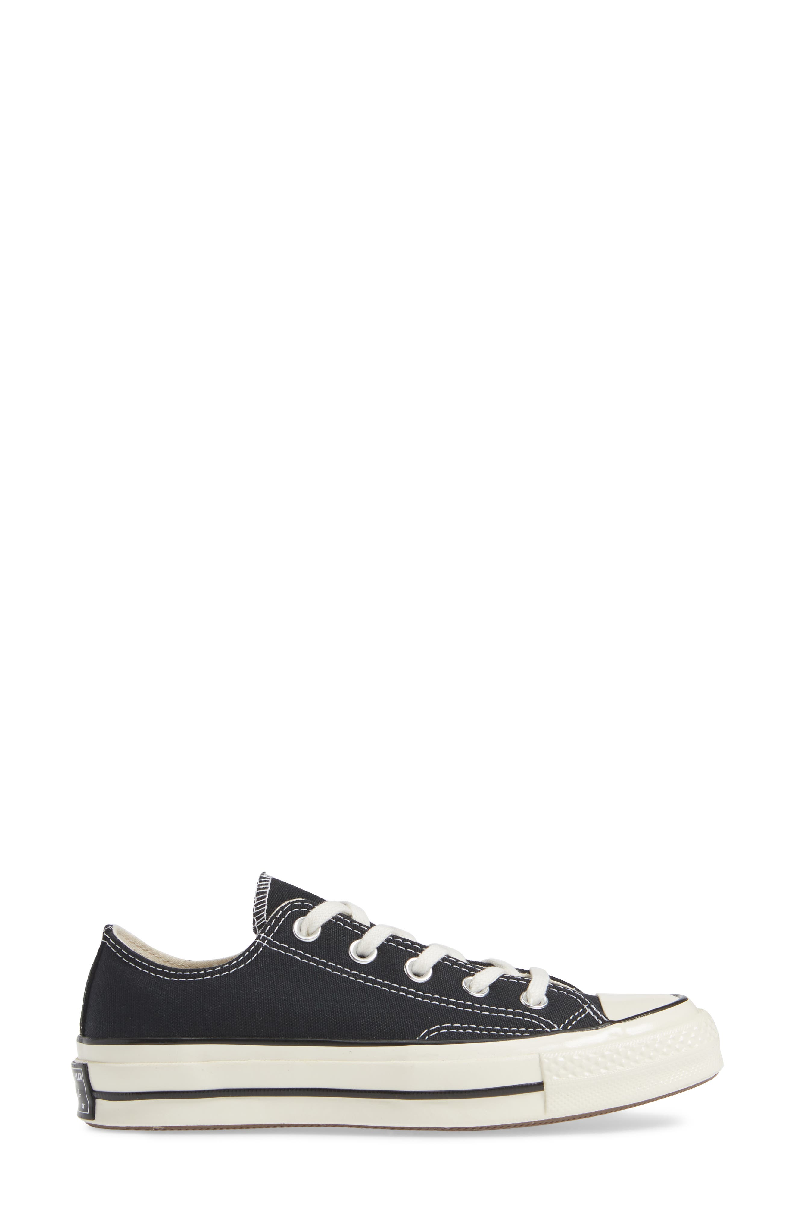CONVERSE, Chuck Taylor<sup>®</sup> All Star<sup>®</sup> Chuck 70 Ox Sneaker, Alternate thumbnail 3, color, BLACK/ BLACK/ EGRET