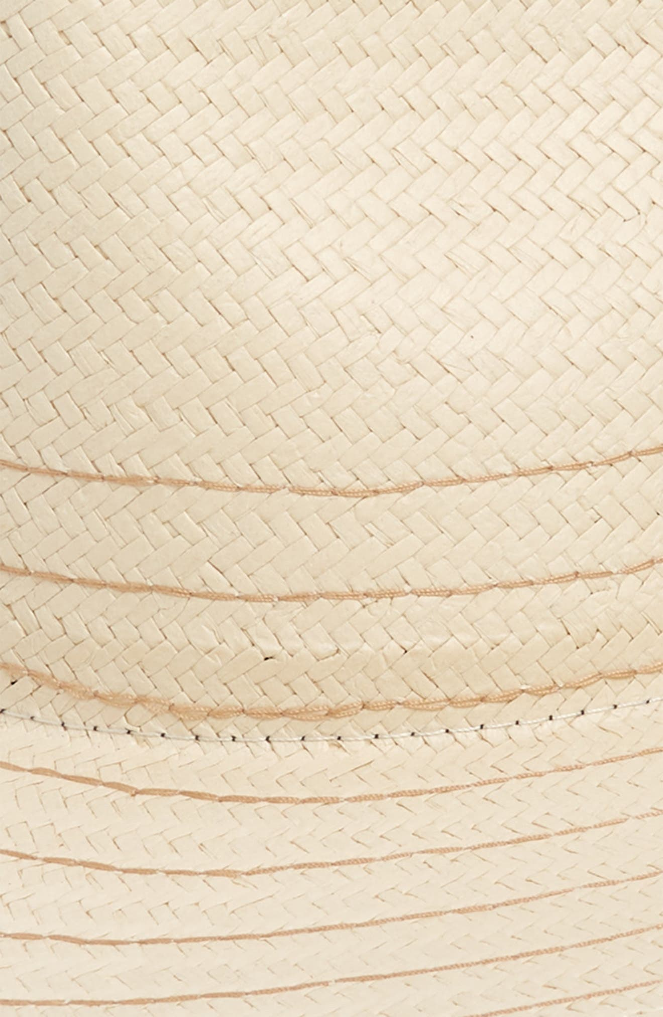 RAG & BONE, Packable Straw Fedora, Alternate thumbnail 2, color, NATURAL