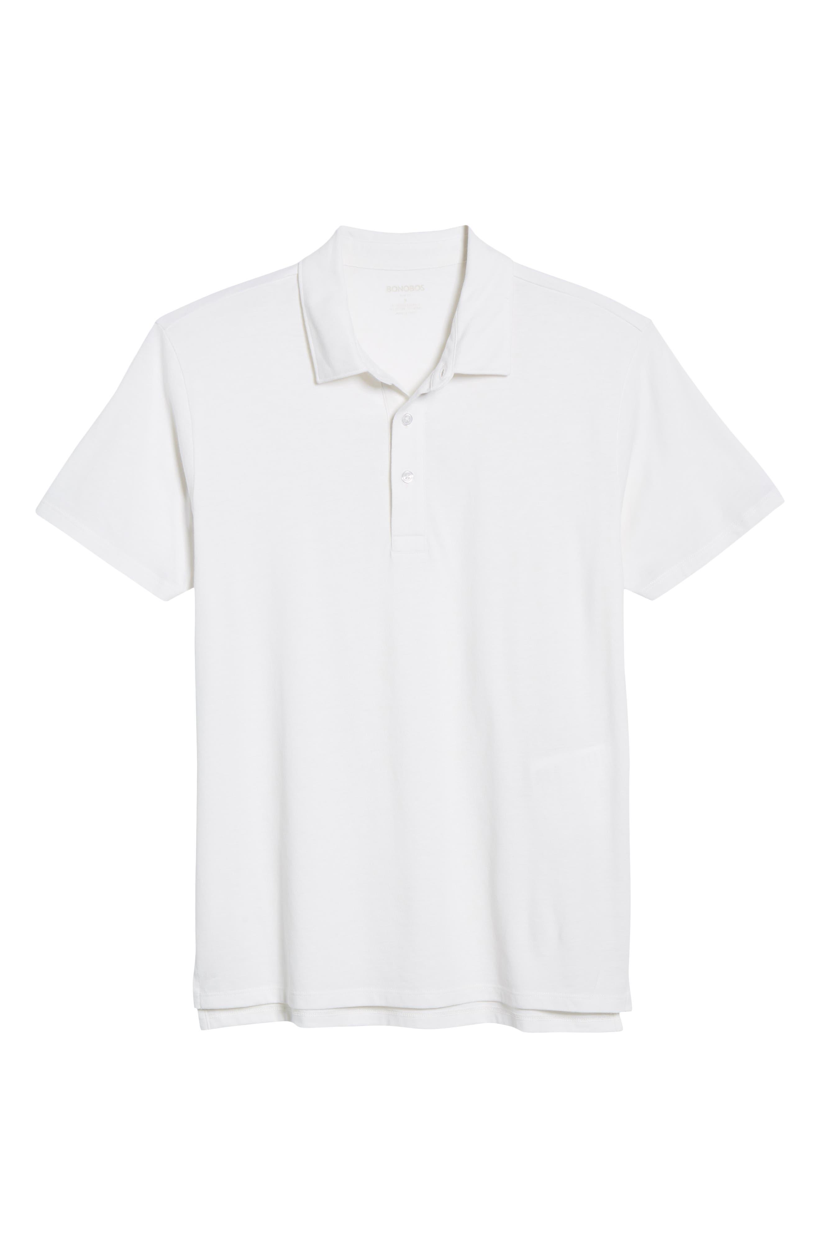 BONOBOS, Slim Fit Performance Polo, Alternate thumbnail 6, color, BRIGHT WHITE