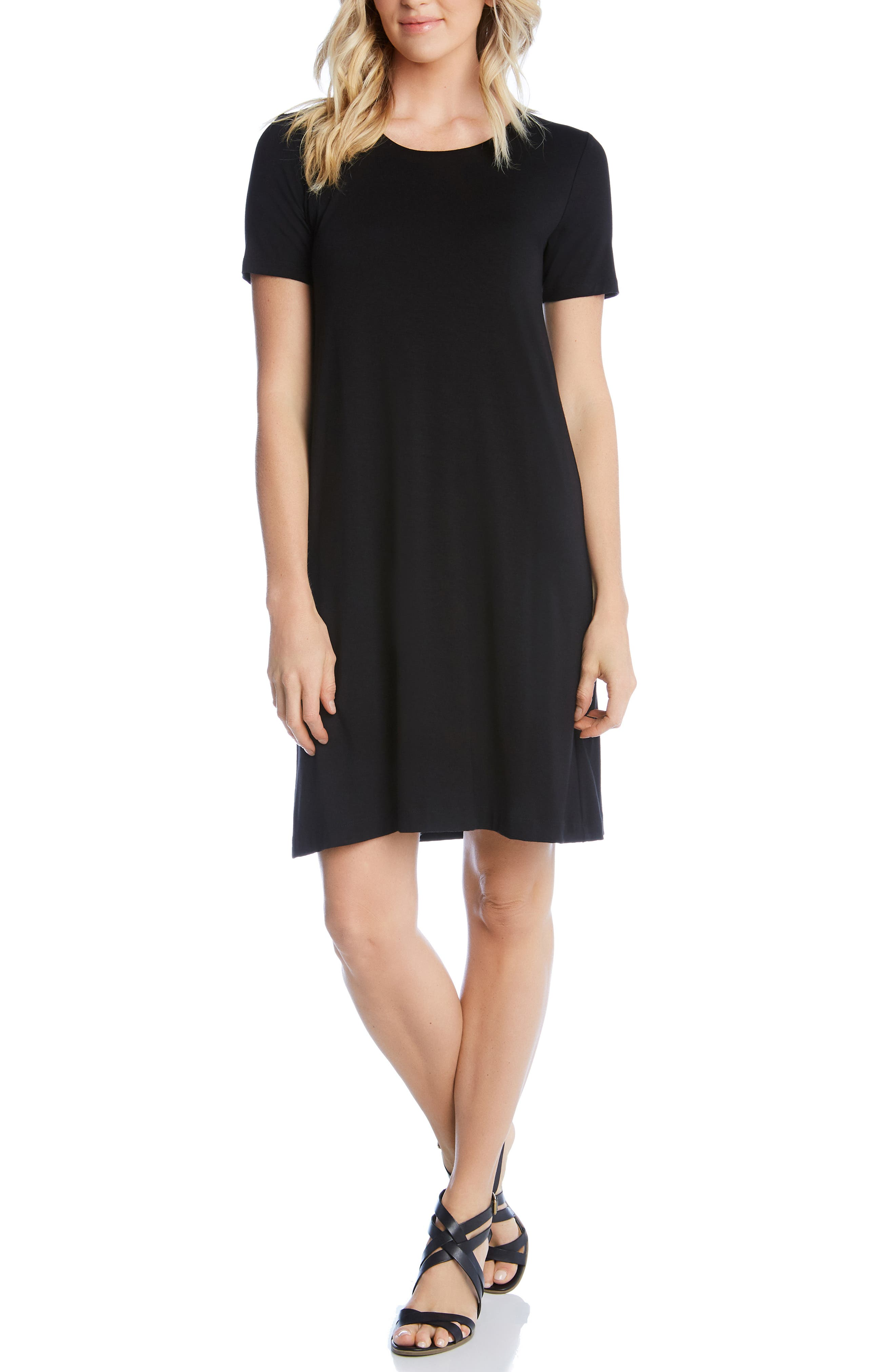 KAREN KANE, Abby T-Shirt Dress, Main thumbnail 1, color, BLACK