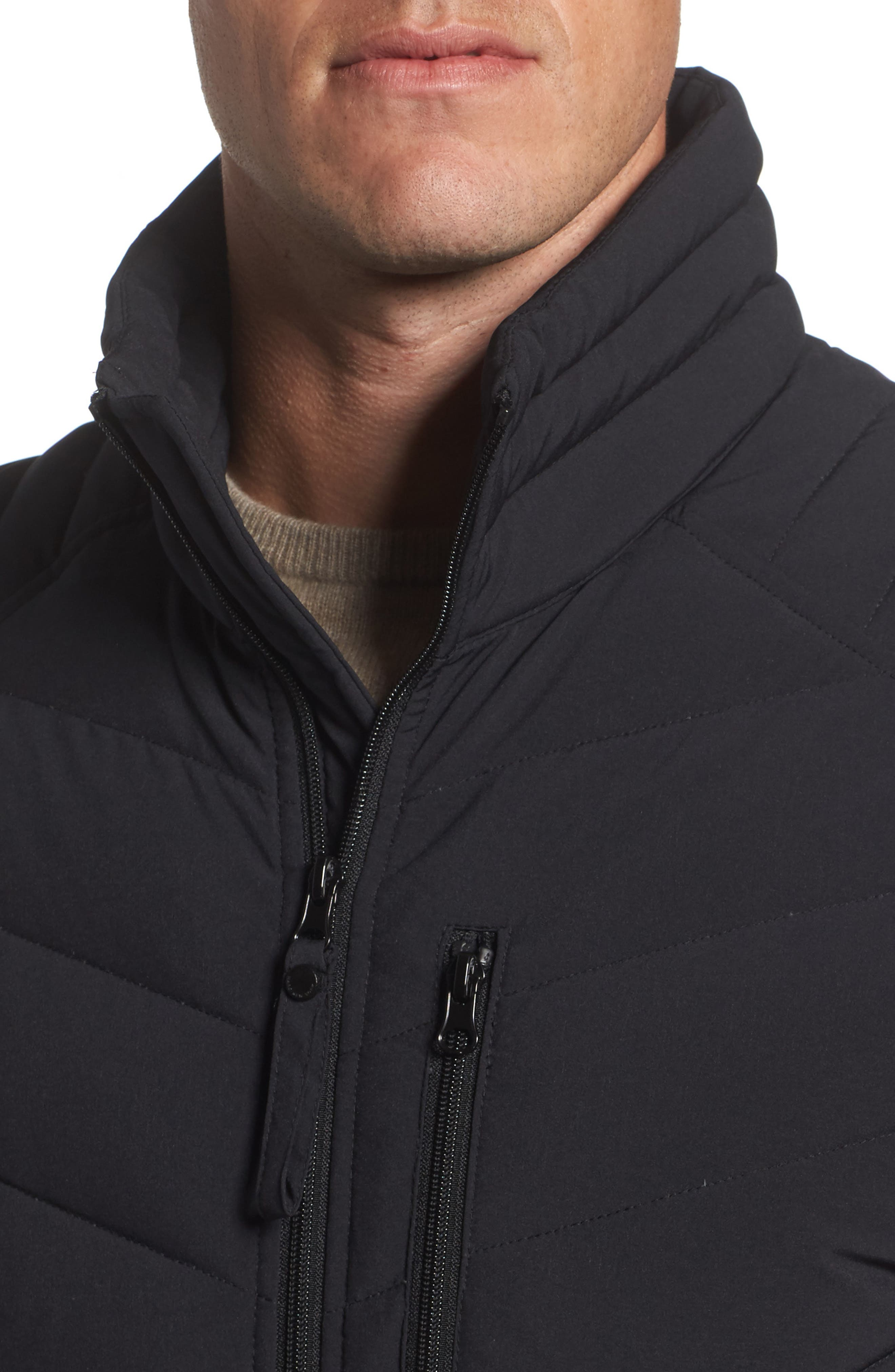 MARC NEW YORK, Bergen Quilted Down Jacket, Alternate thumbnail 5, color, BLACK