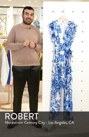 Floral Ruffle High/Low Maxi Dress, sales video thumbnail