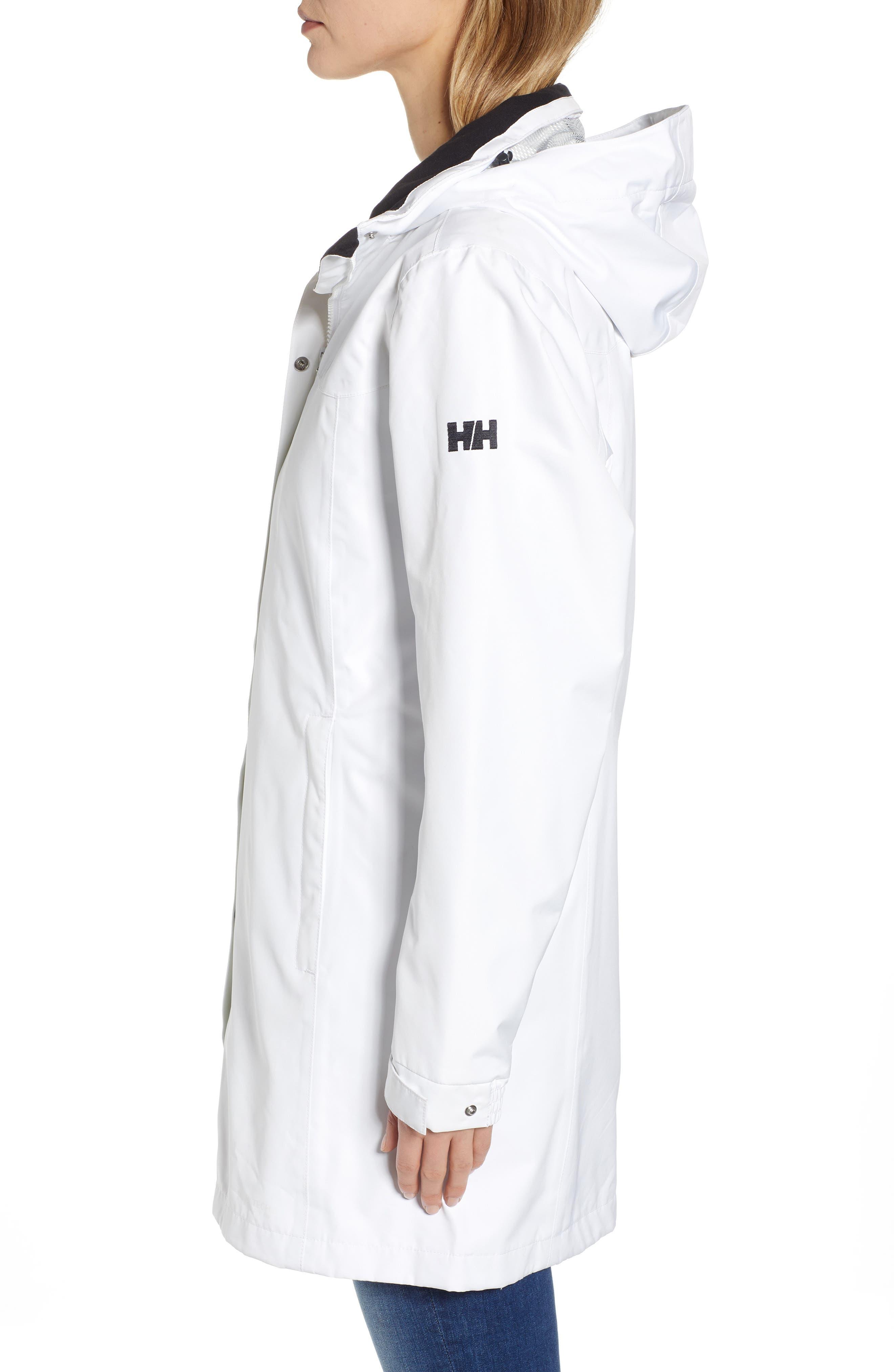 HELLY HANSEN, 'Aden' Helly Tech<sup>®</sup> Raincoat, Alternate thumbnail 4, color, 100