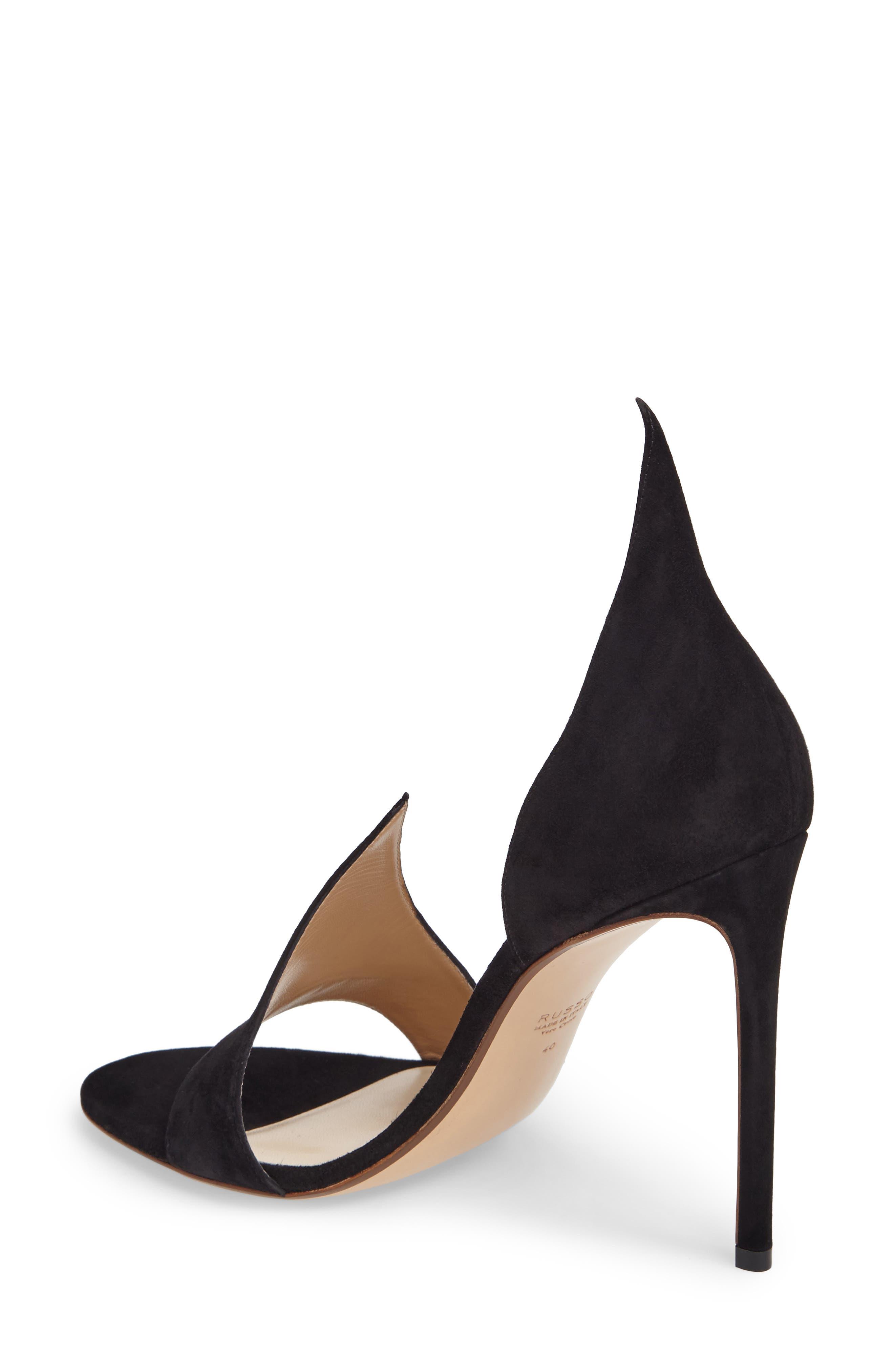 FRANCESCO RUSSO, Flame Sandal, Alternate thumbnail 2, color, BLACK