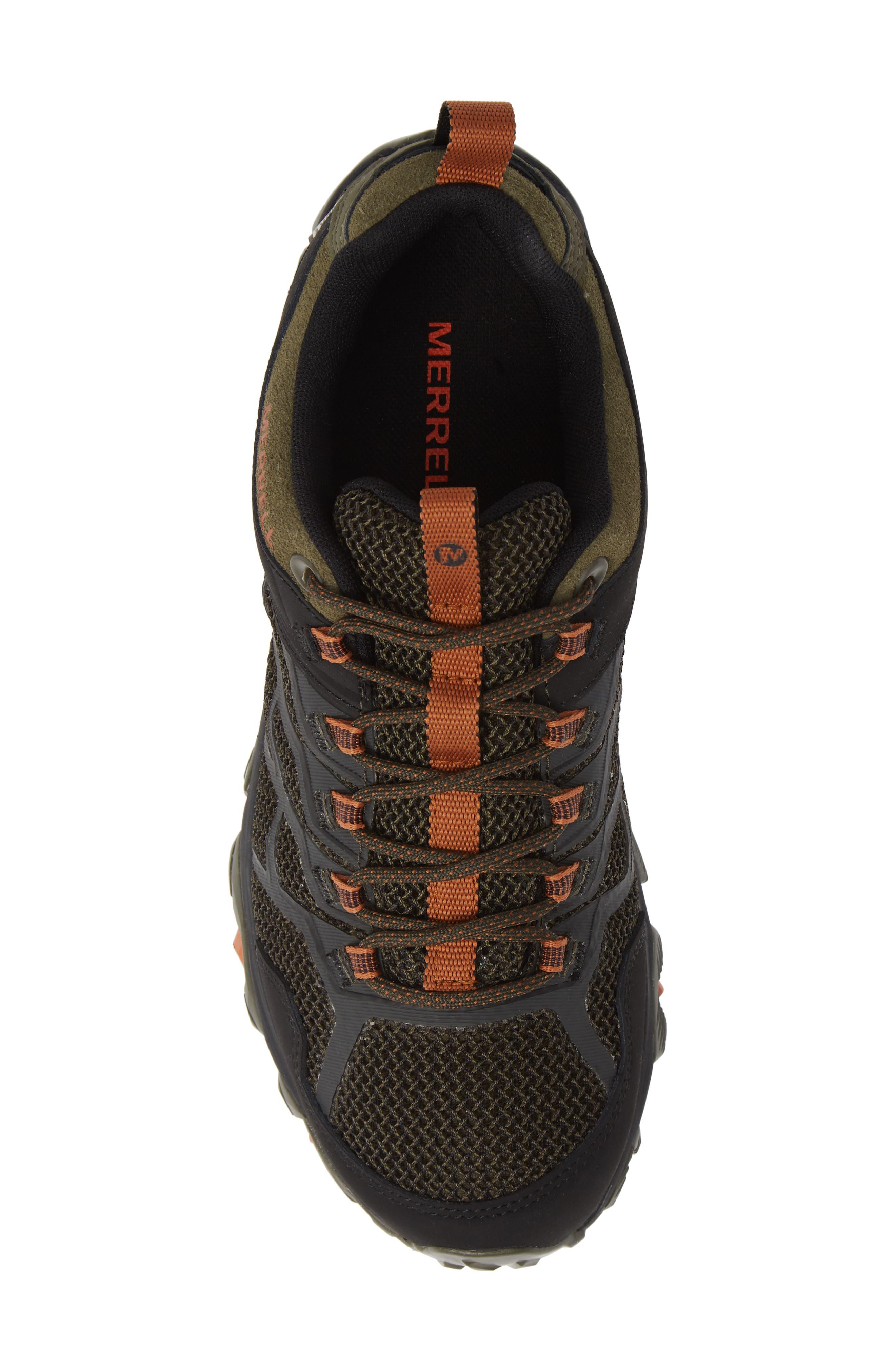 MERRELL, Moab FST 2 Waterproof Hiking Shoe, Alternate thumbnail 5, color, OLIVE/ ADOBE