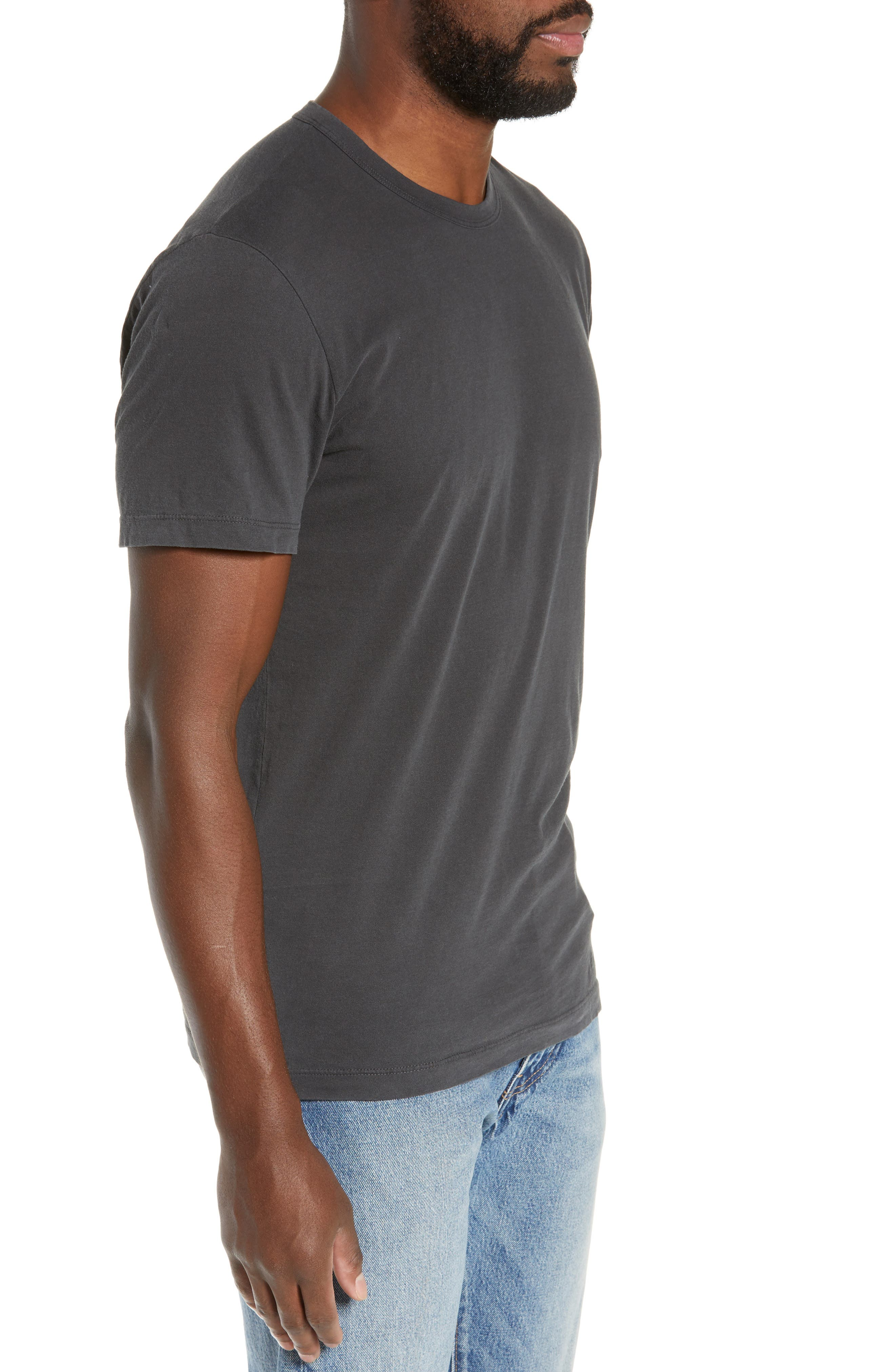 JAMES PERSE, Regular Fit Tonal Palms Crewneck Shirt, Alternate thumbnail 3, color, 020