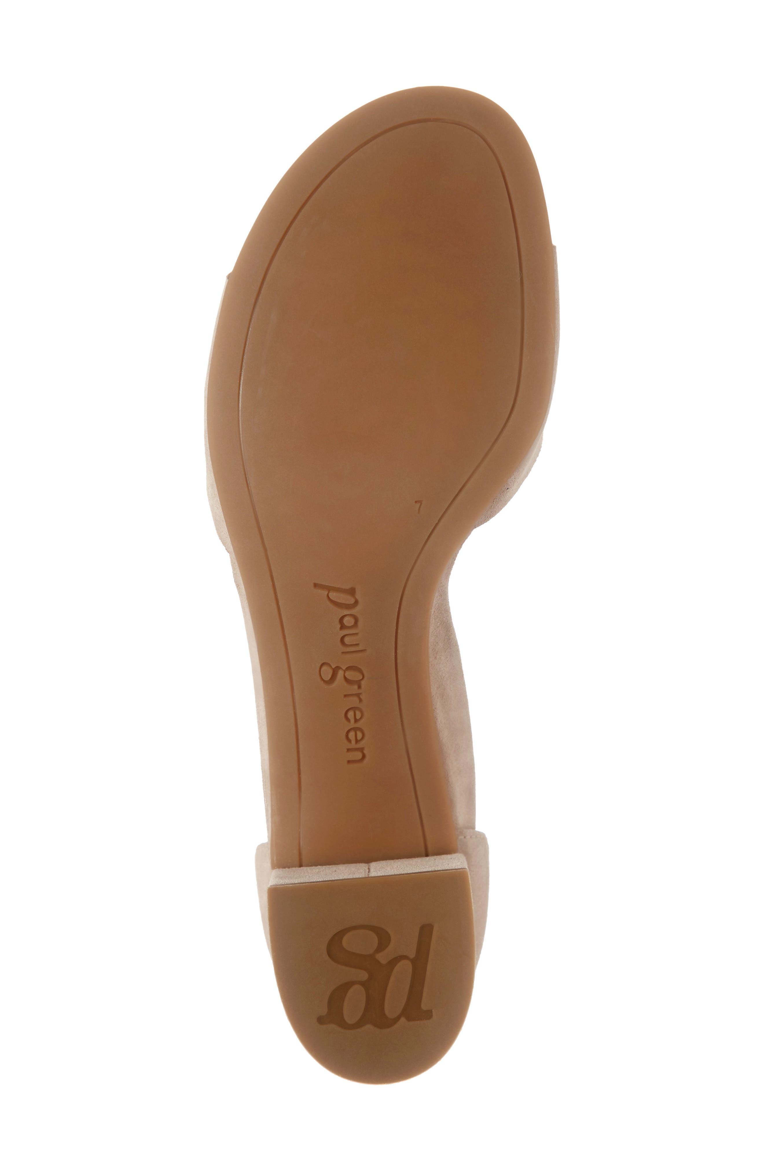 PAUL GREEN, Velma Ankle Strap Sandal, Alternate thumbnail 6, color, SAHARA SUEDE