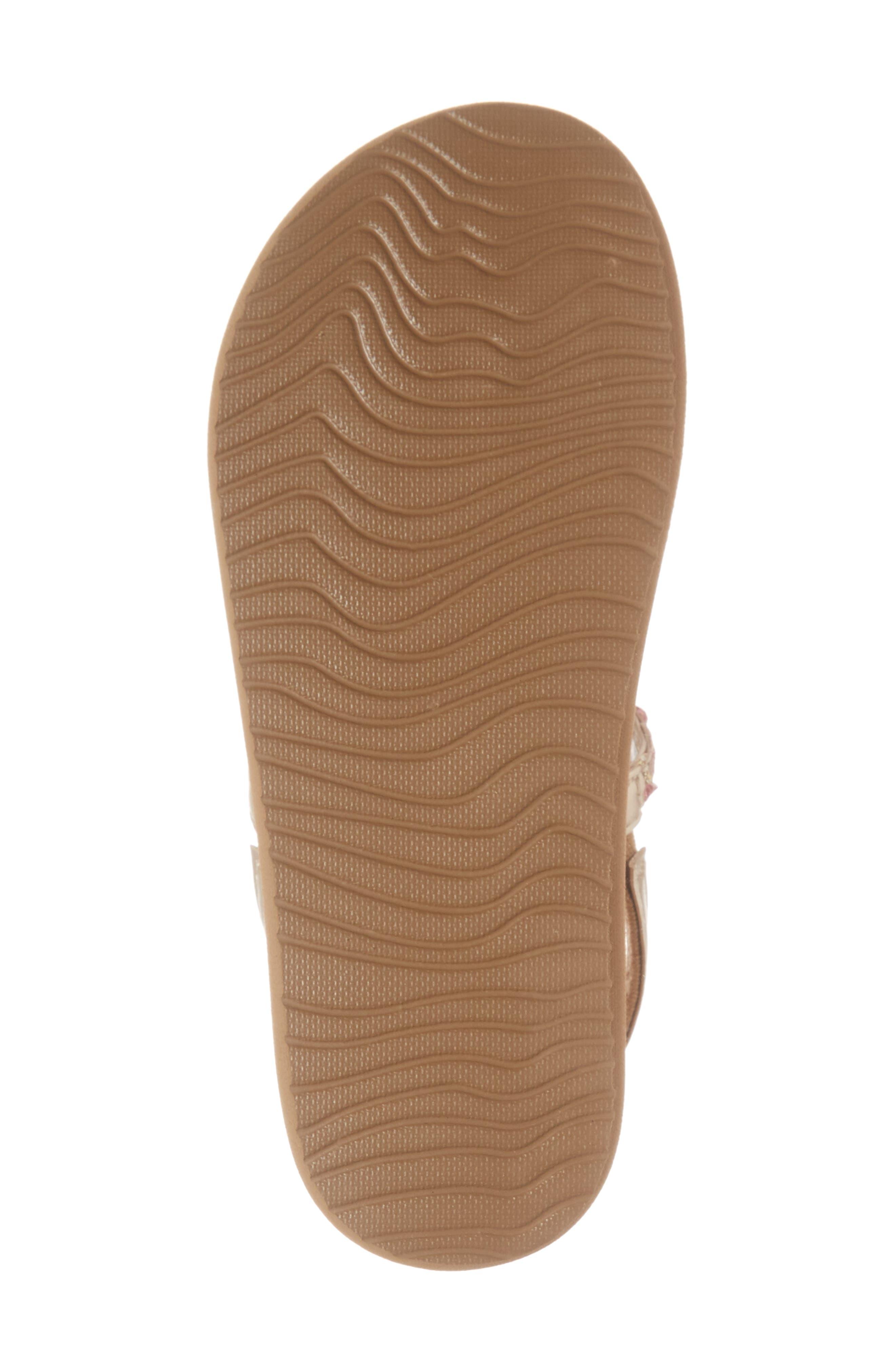 REEF, Little Twisted T-Strap Sandal, Alternate thumbnail 6, color, TAN