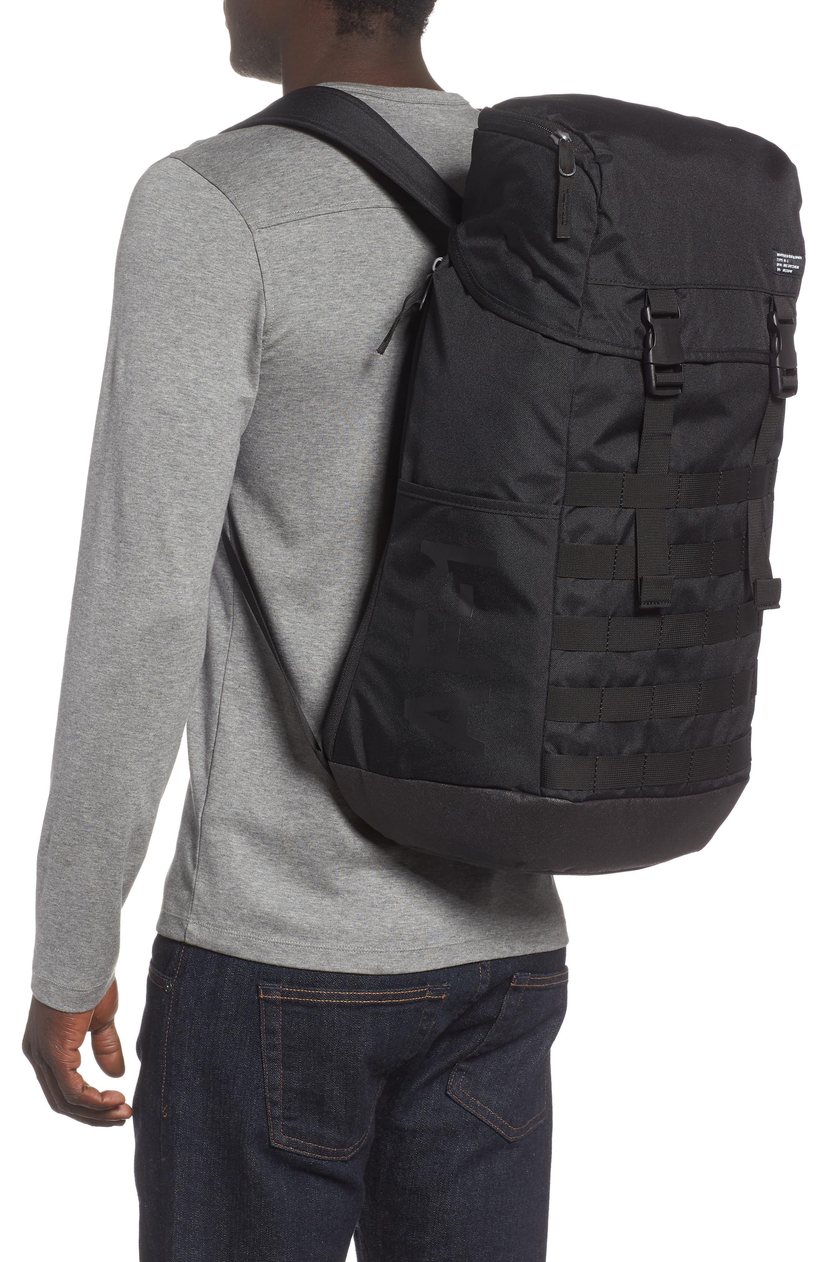 NIKE, AF-1 Backpack, Alternate thumbnail 2, color, 001